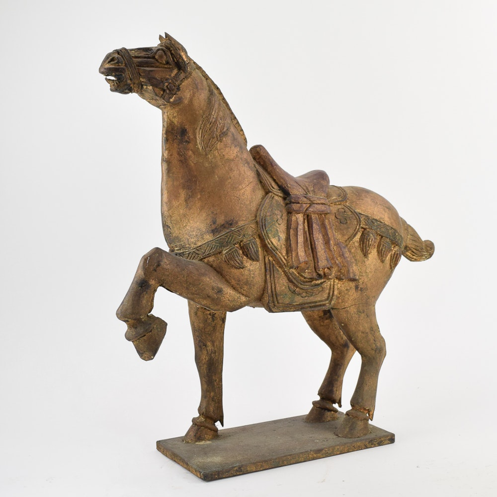 Wood Horse Carving