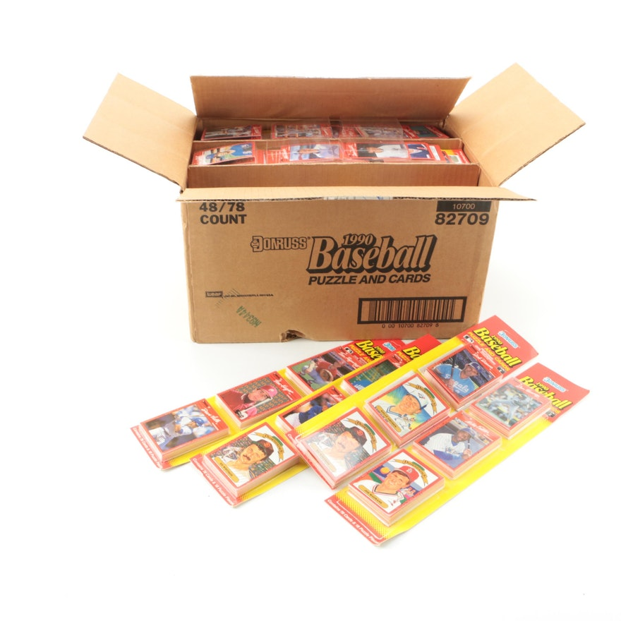1990 Donruss Baseball Puzzle And Cards