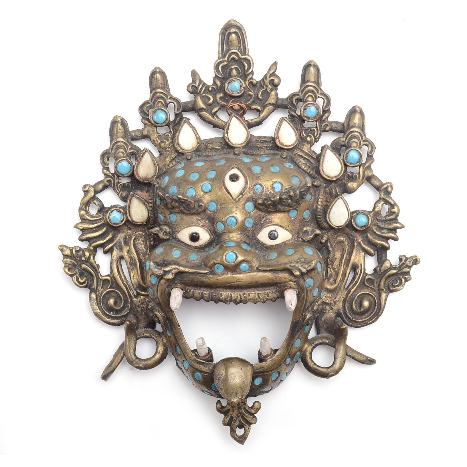 Vintage Tibetan Style Three-Eyed Mask