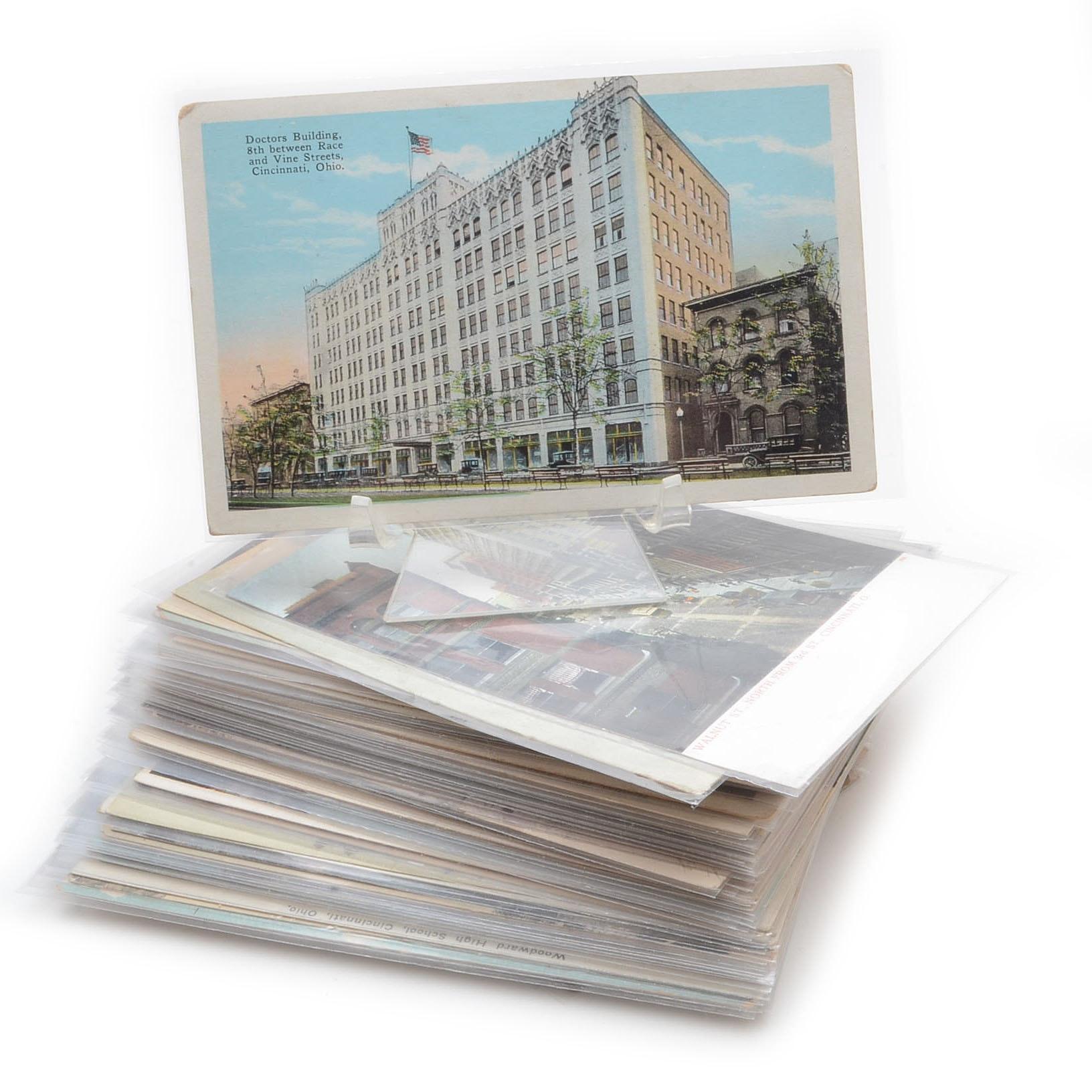 Vintage Cincinnati Themed Postcards in Sleeves