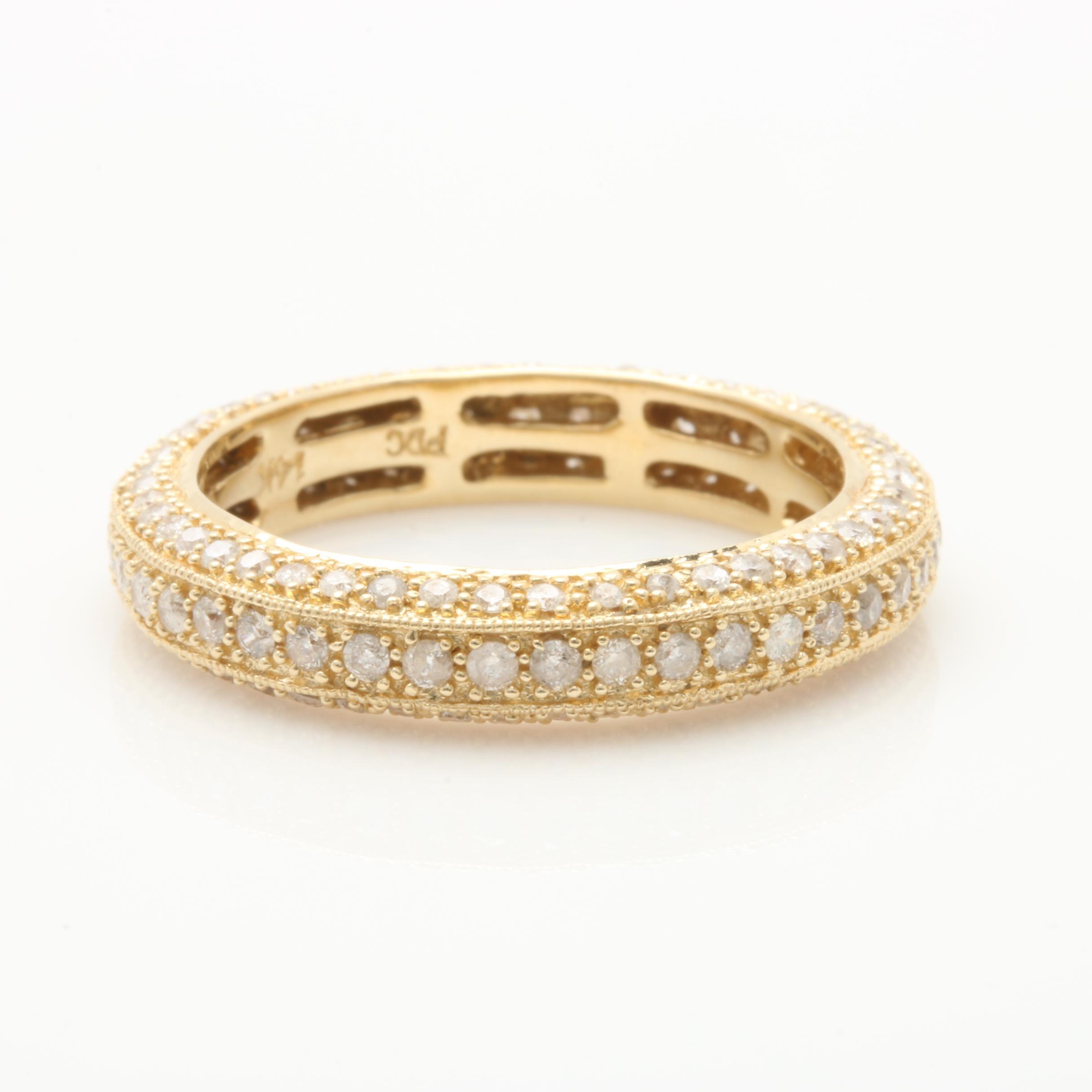 14K Yellow Gold 1.00 CTW Diamond Eternity Ring