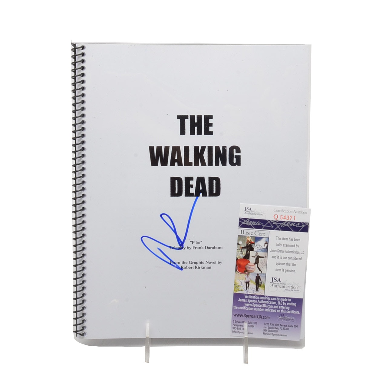 "Norman Reedus Signed ""Walking Dead"" Script with COA"