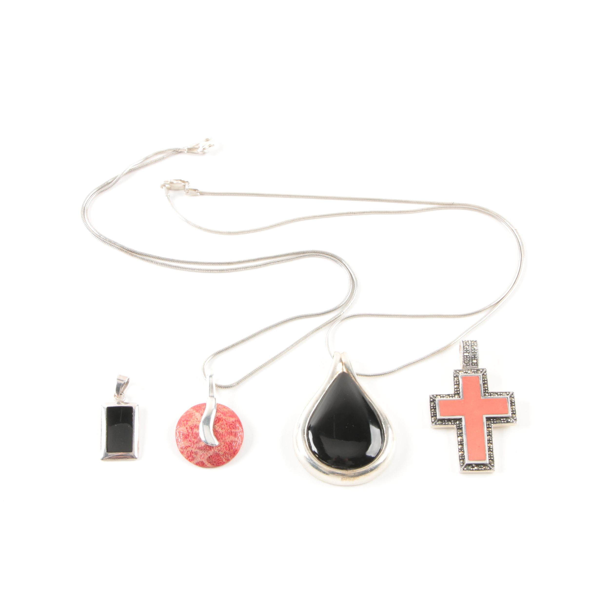 Sterling Silver and Gemstone Necklaces and Pendants