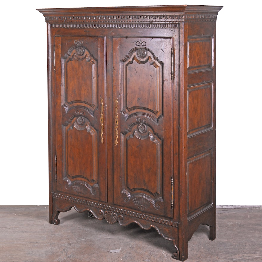 louis xv style armoire by baker furniture ebth. Black Bedroom Furniture Sets. Home Design Ideas