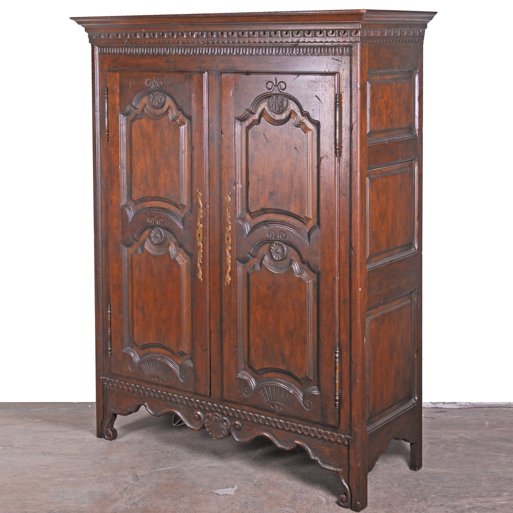Beau Louis XV Style Armoire By Baker Furniture ...