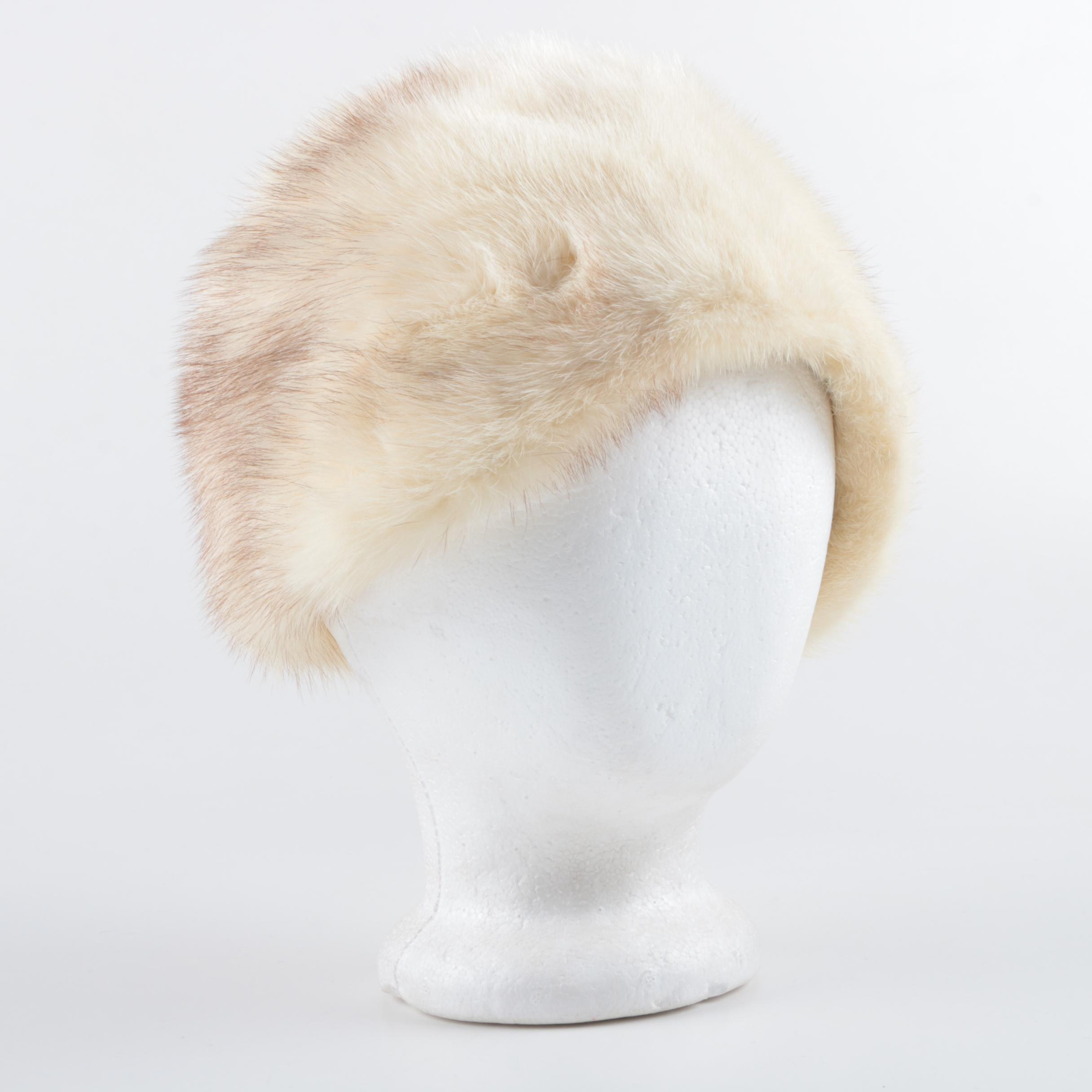 Women's Vintage Miss Alice for I. Magnin Mink Fur Hat