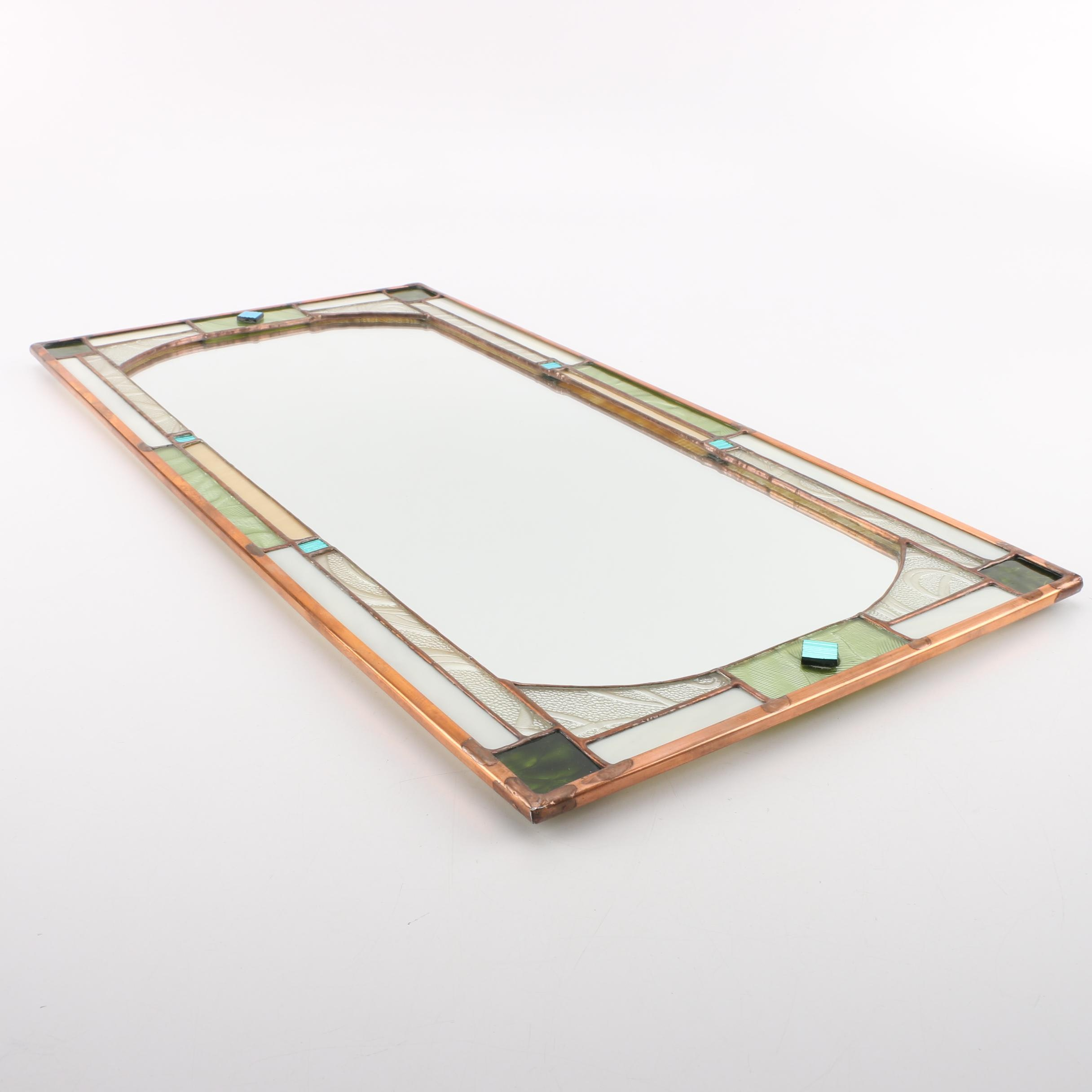 Copper Framed and Paneled Wall Mirror