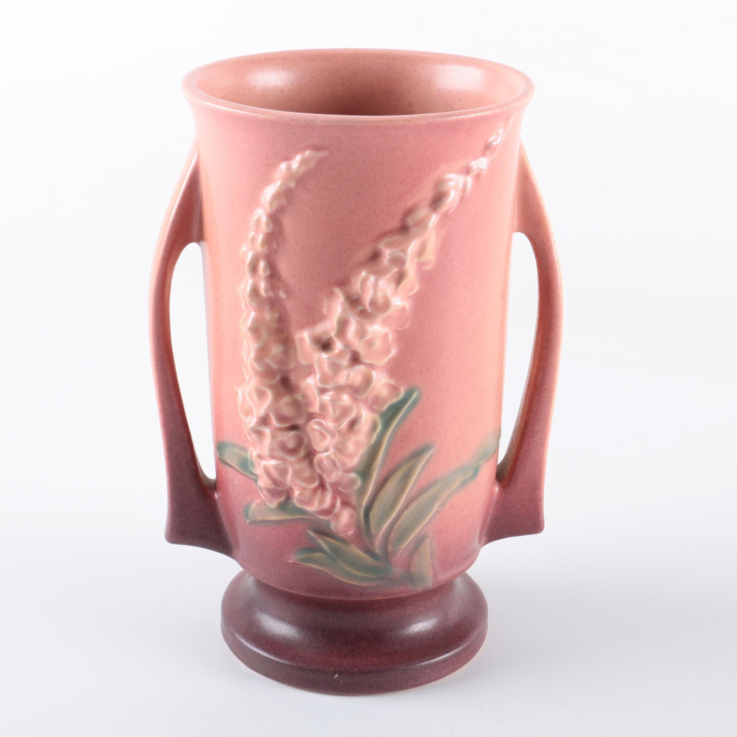 "Vintage Roseville Pottery ""Foxglove"" Vase"