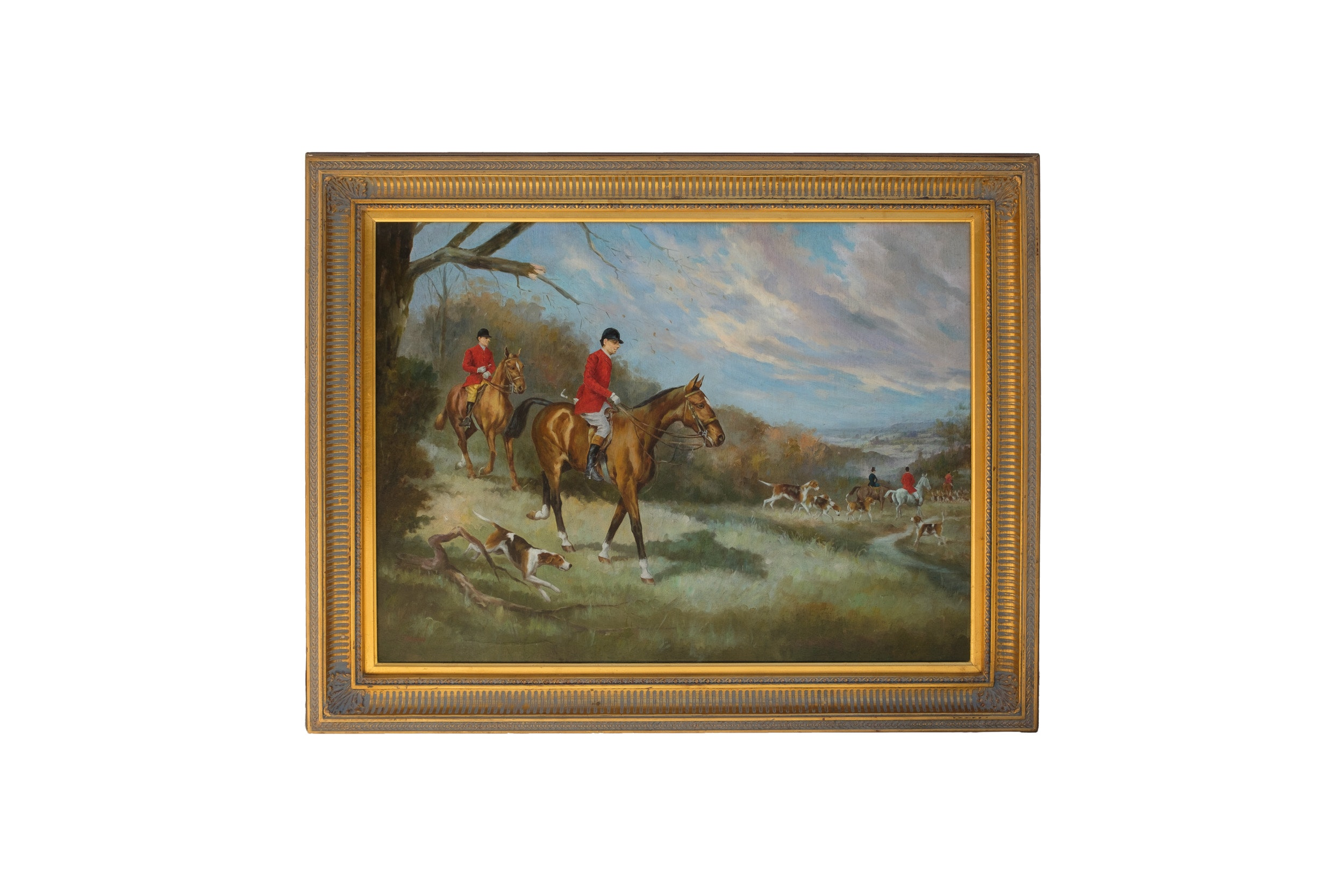 Jasmin Oil on Canvas of Foxhunt