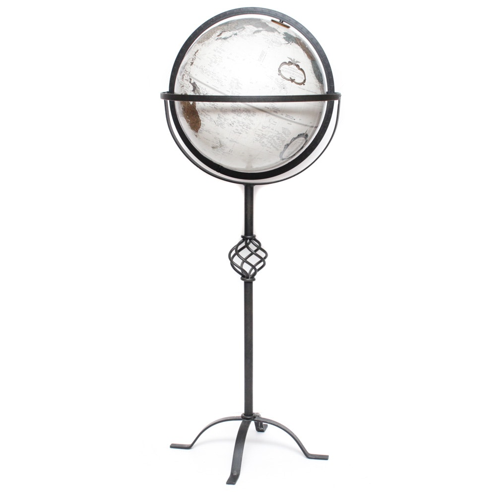 Replogle 12-Inch Globe with Wrought Iron Stand