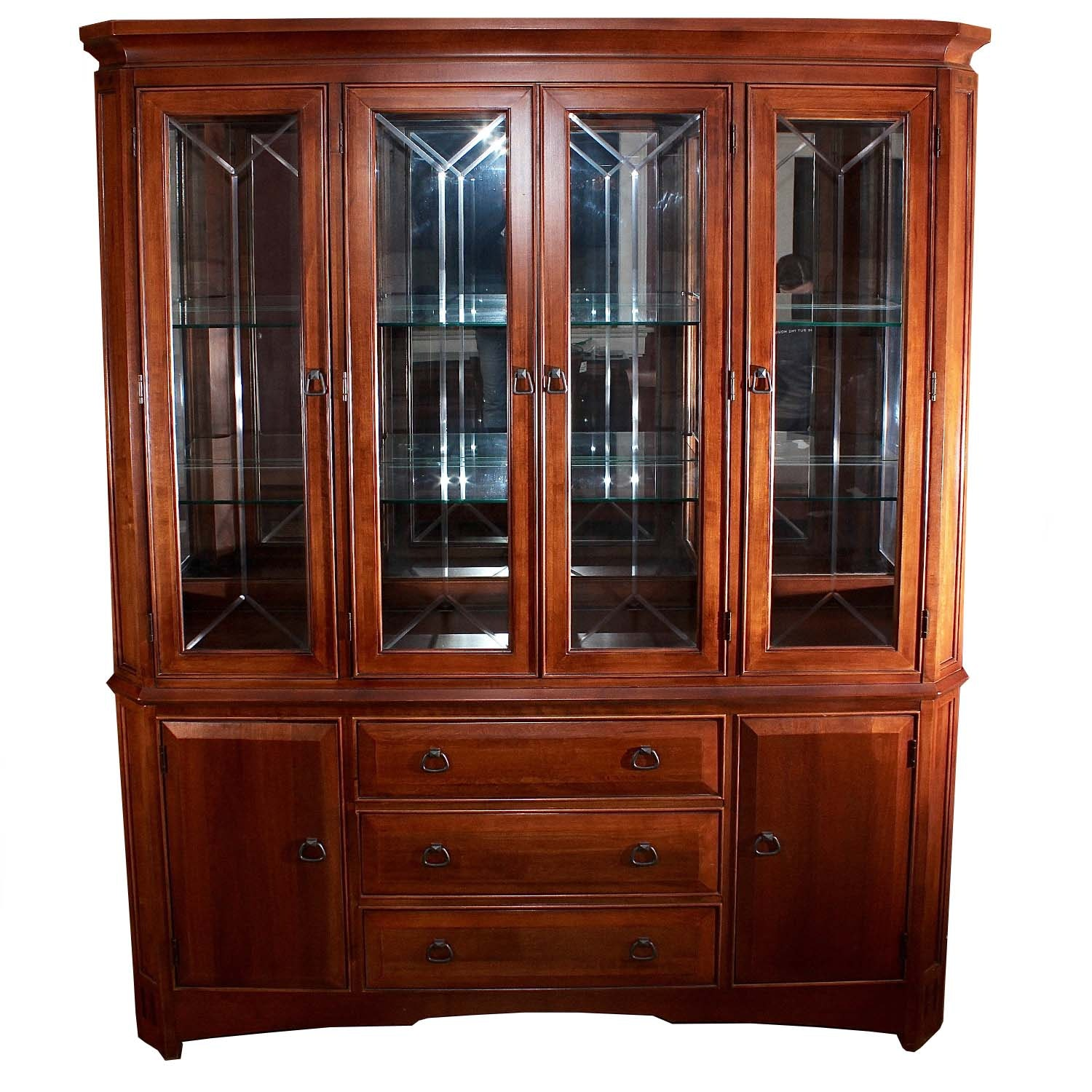 Thomasville Mahogany China Display Cabinet