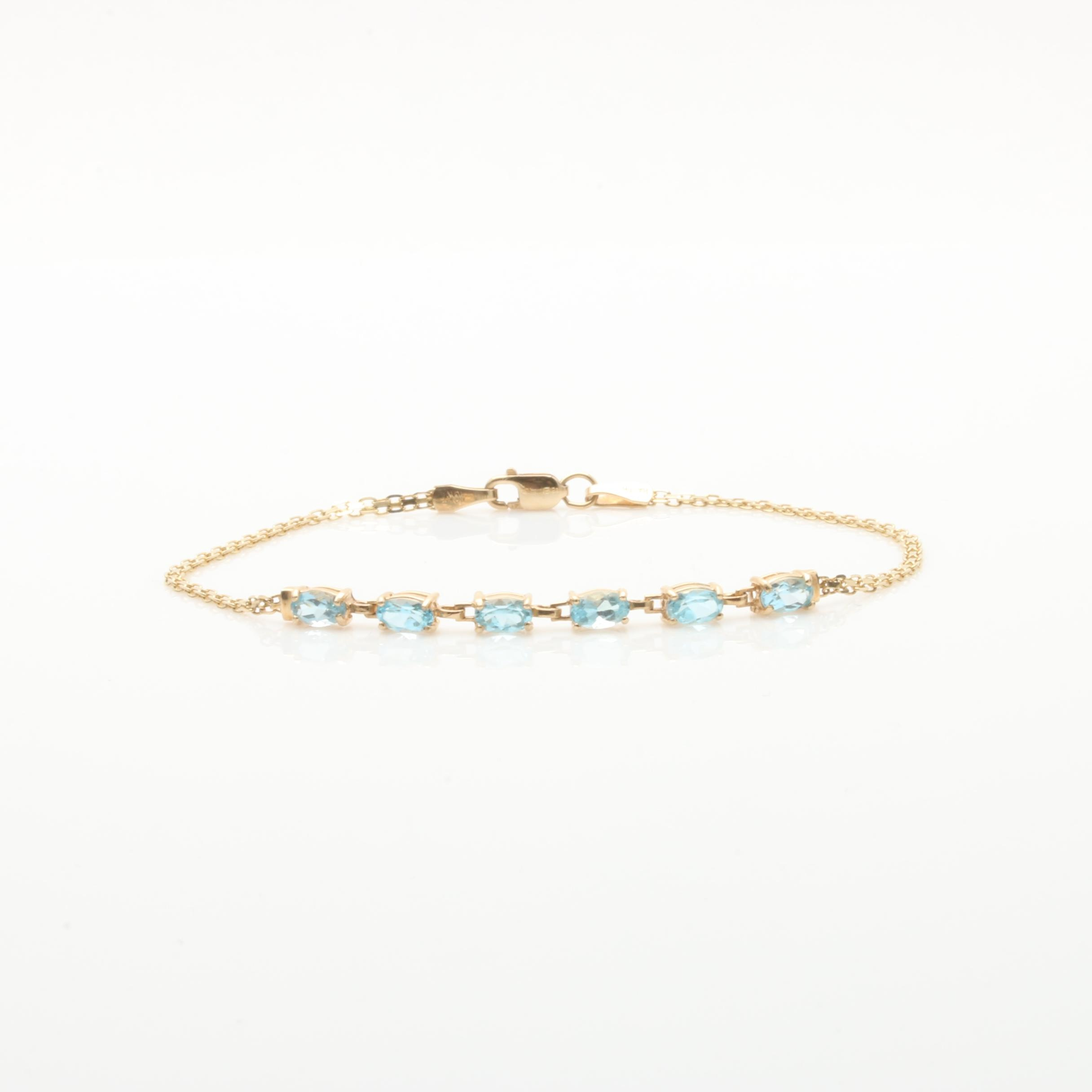 10K Yellow Gold Topaz Bracelet