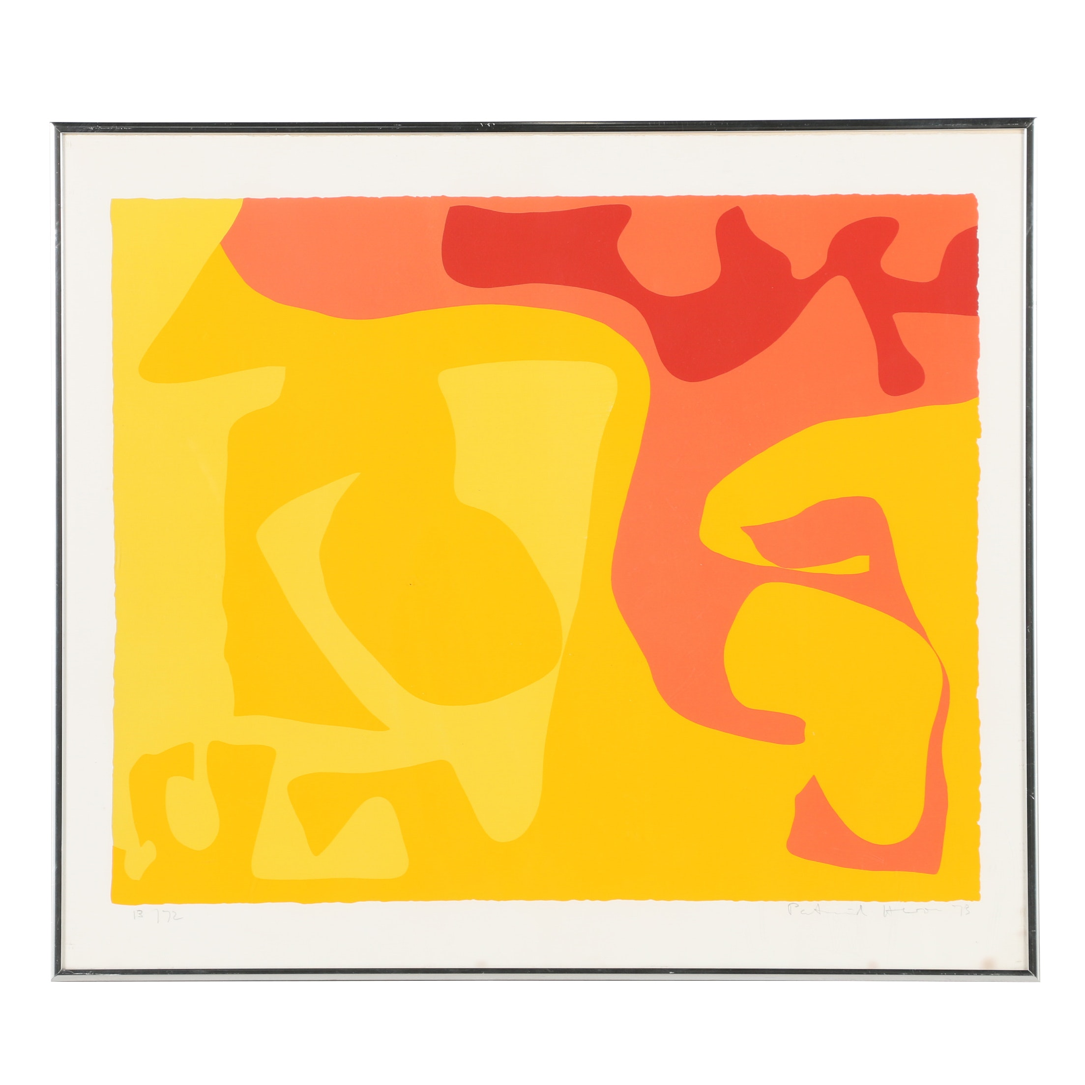 "Patrick Heron Limited Edition Serigraph ""Small Yellow"""