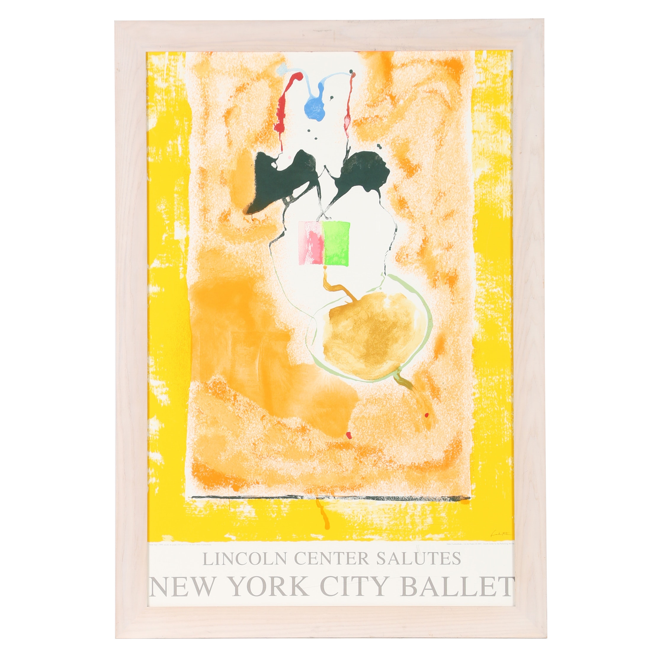 "2001 Lithograph Poster ""Lincoln Center Salutes New York City Ballet"""
