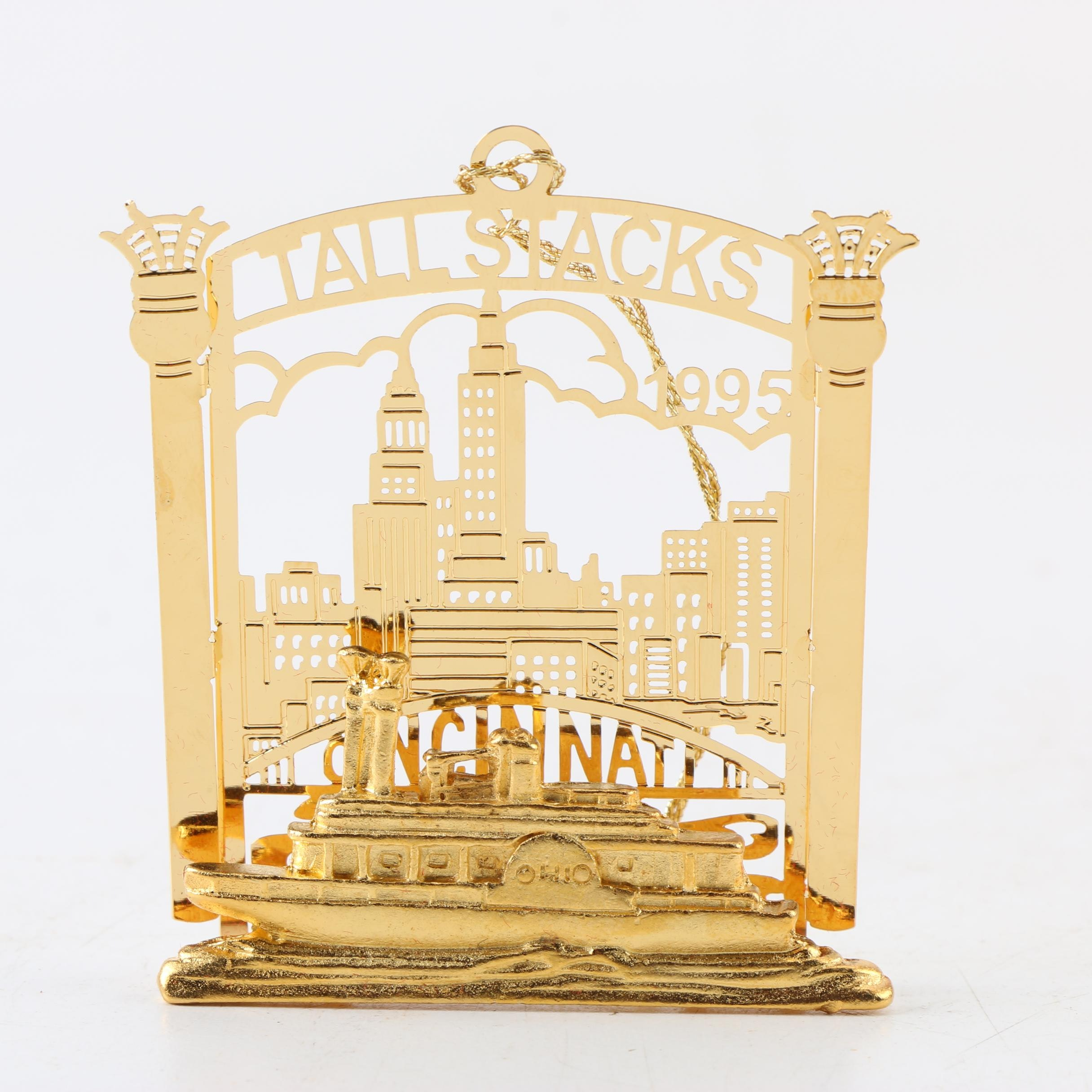 Brass Tall Stacks Riverboat Holiday Ornament
