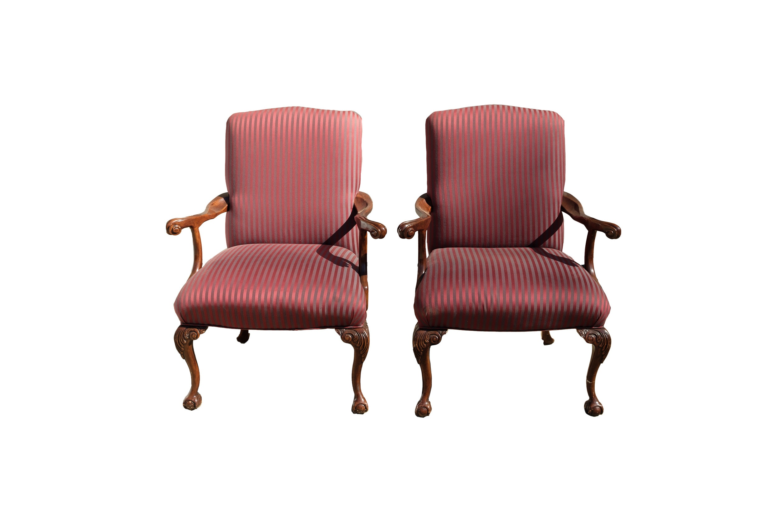 Pair of Chippendale Style Armchairs