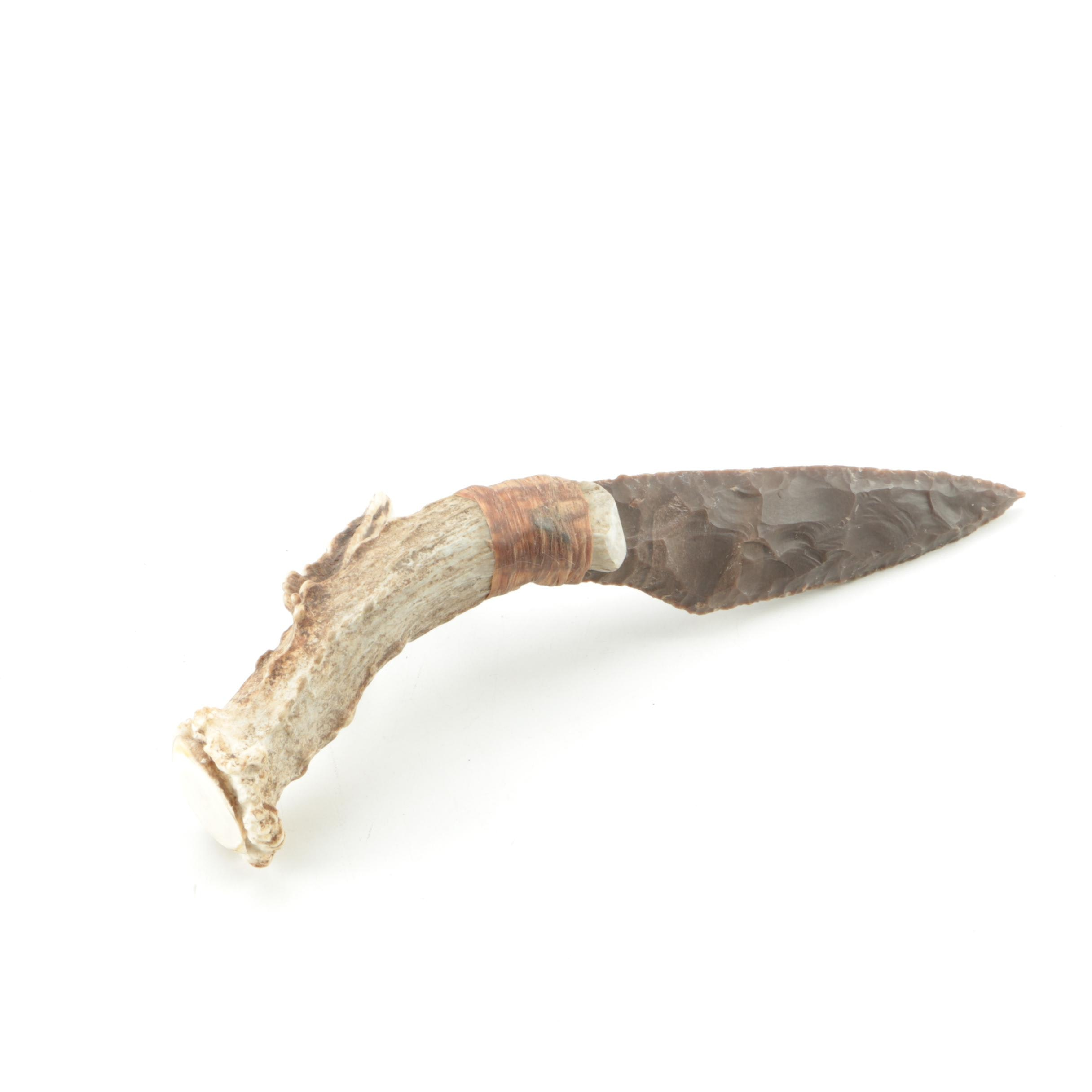 Antler and Chert Point Knife