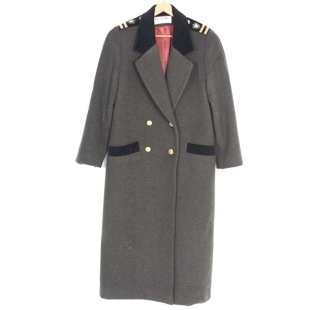 Women's Christian Dior Military Style Coat