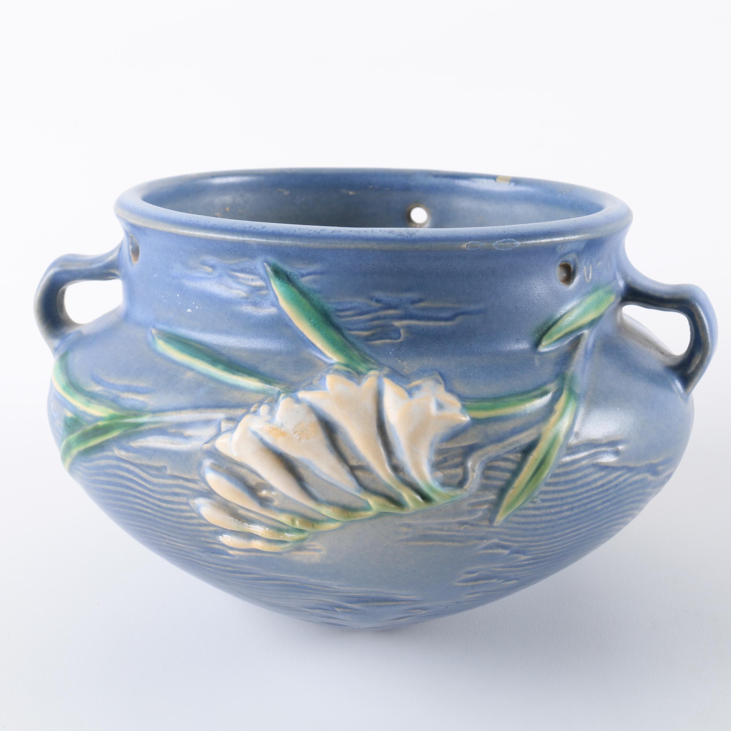 "Roseville Pottery ""Freesia"" Hanging Planter"