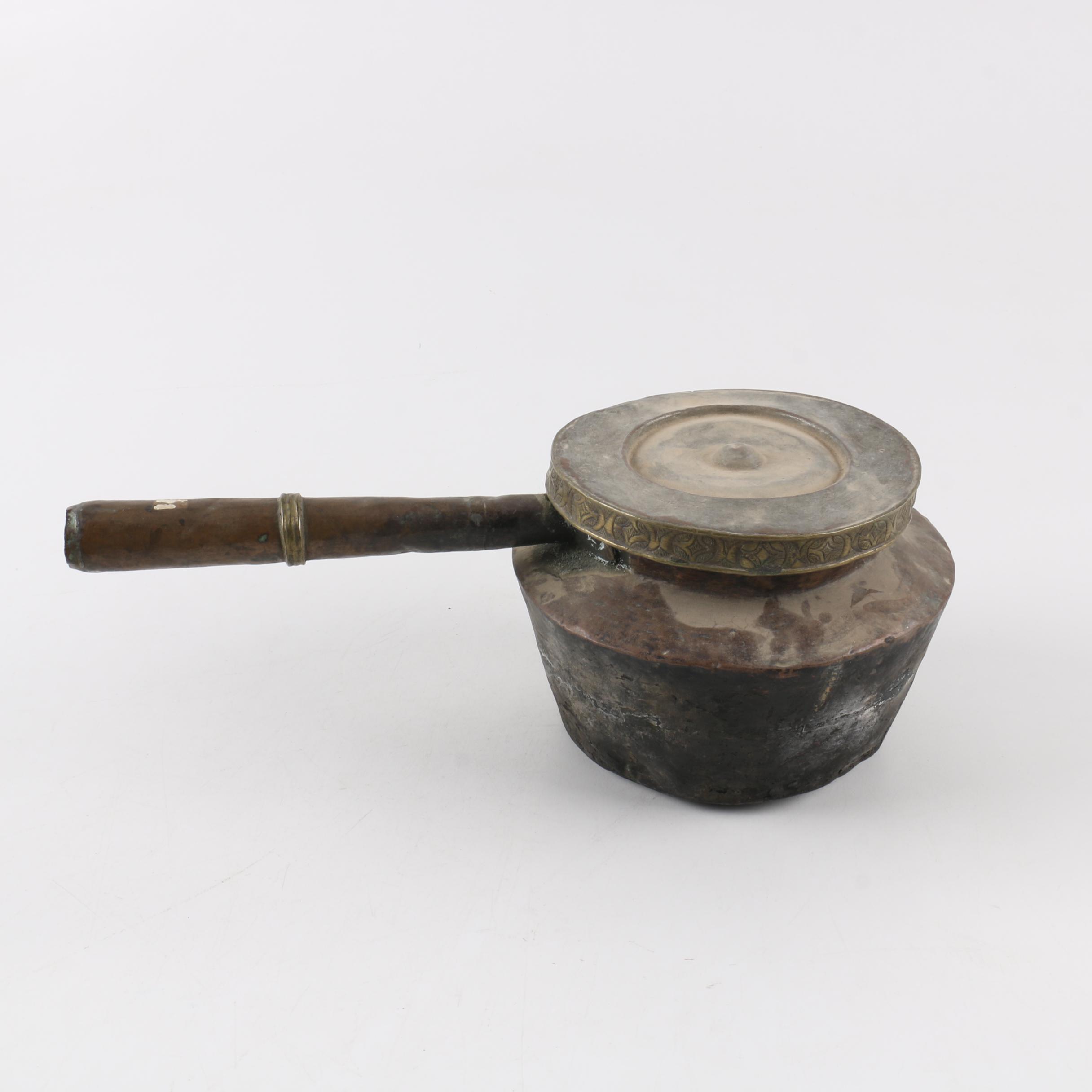 Tibetan Style Metal Cooking Pot