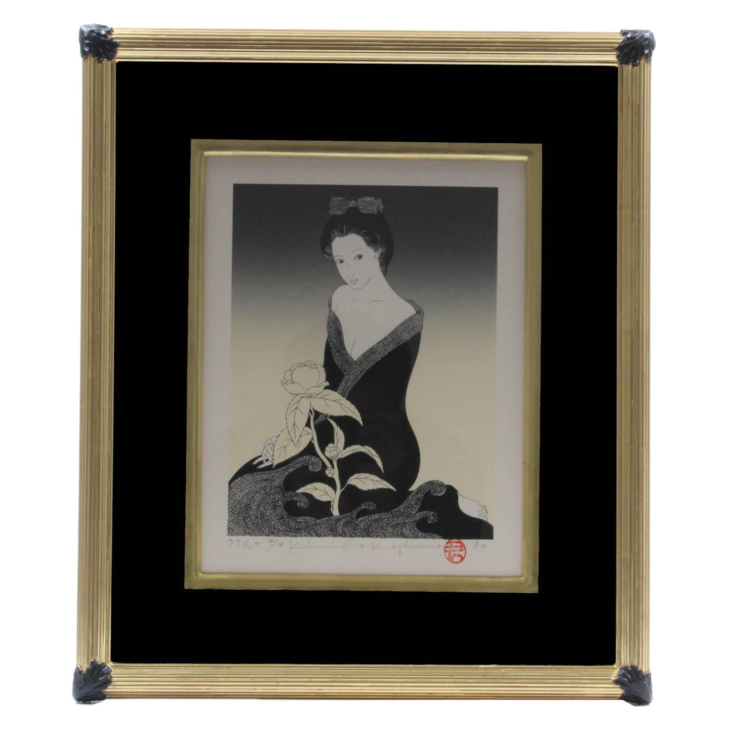 "Kimiko Kojima Serigraph ""Sasanqua"""