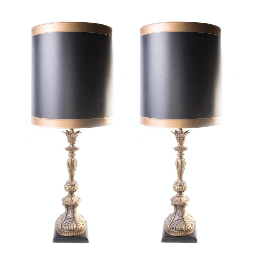 Vintage ornate table lamps ebth vintage ornate table lamps aloadofball Choice Image