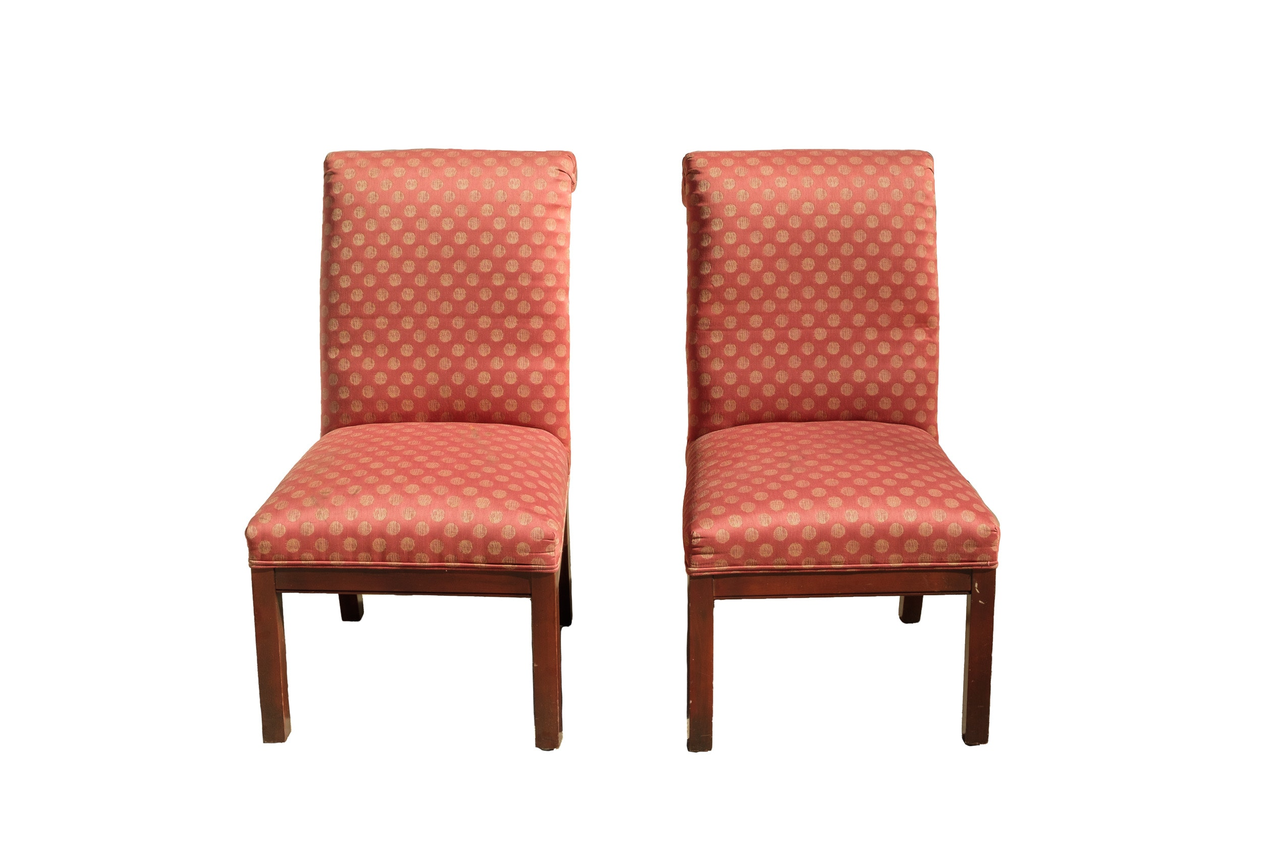 Pair of Scroll Back Side Chairs