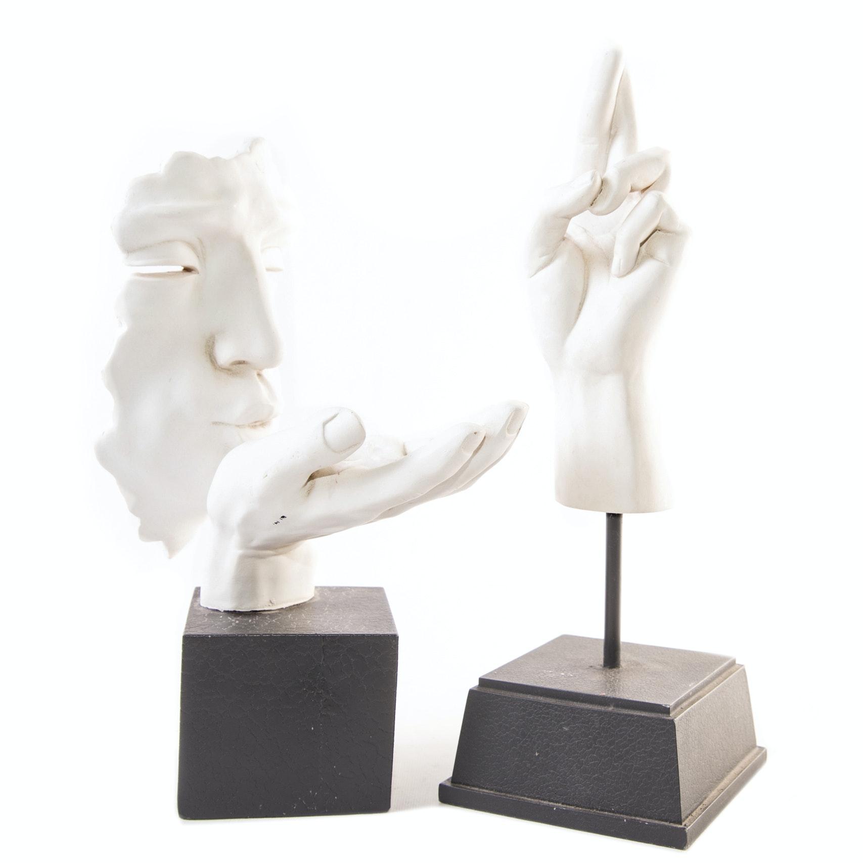 Cast Resin Hand Sculptures