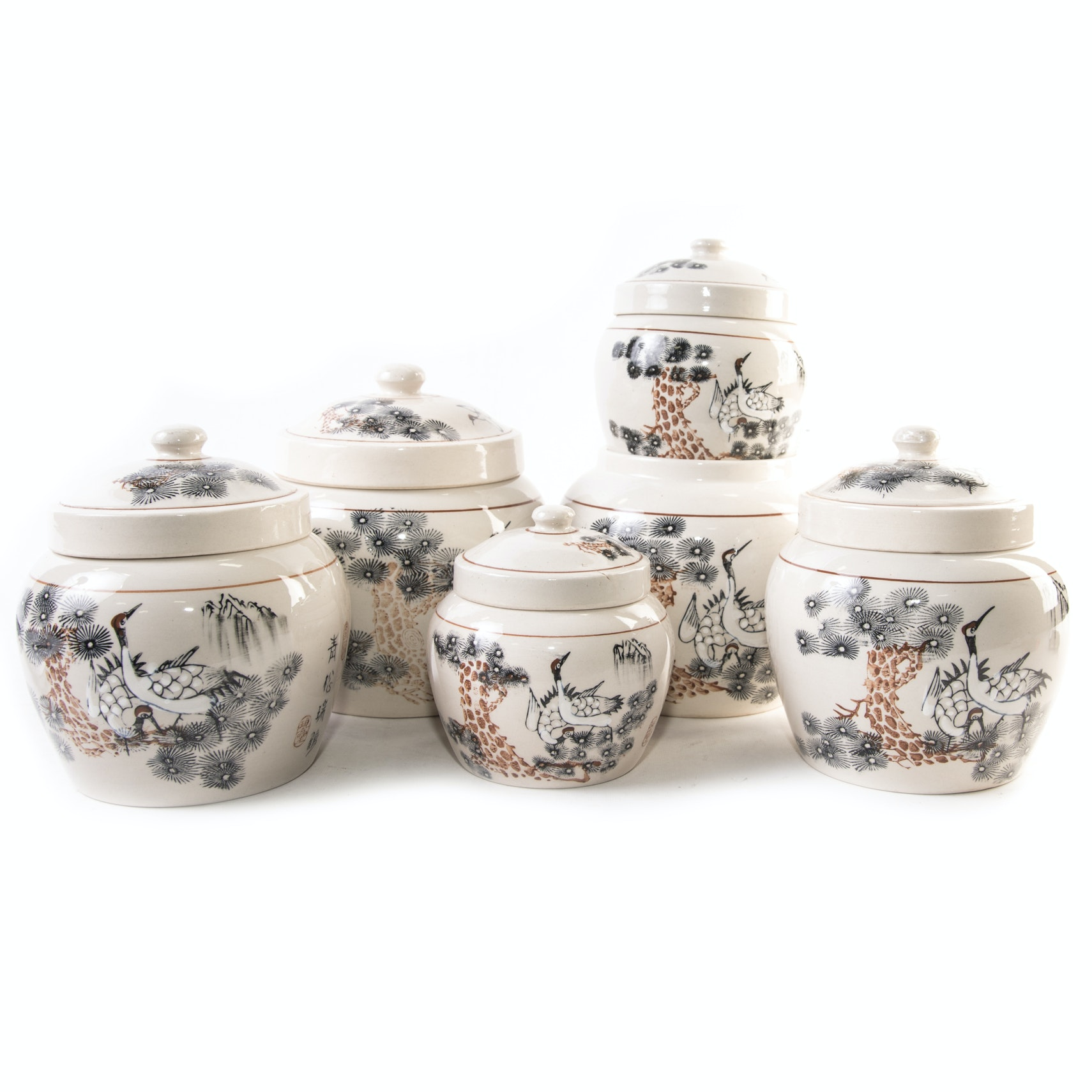 Asian Ceramic Canisters