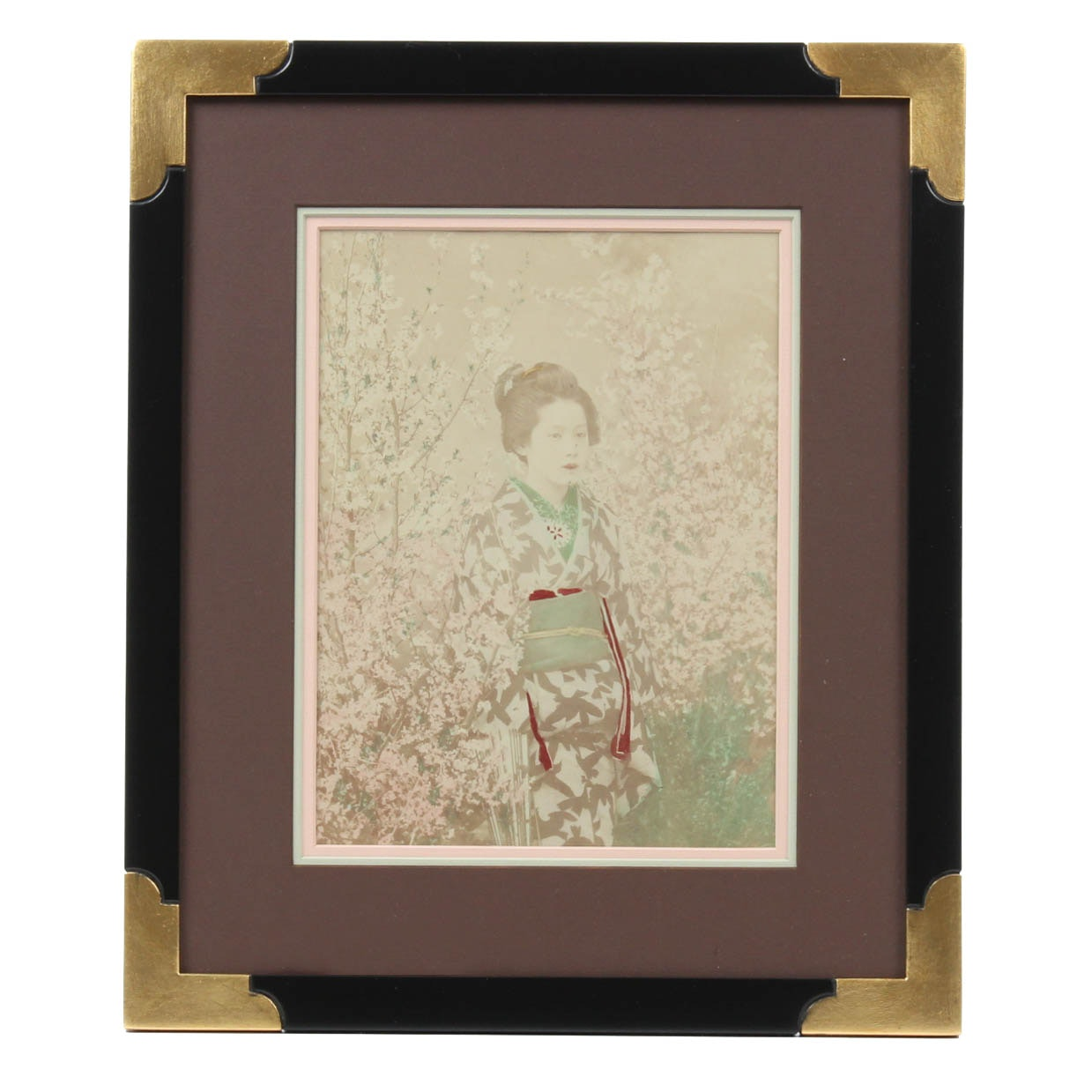 19th Century Japanese Photograph of a Young Woman