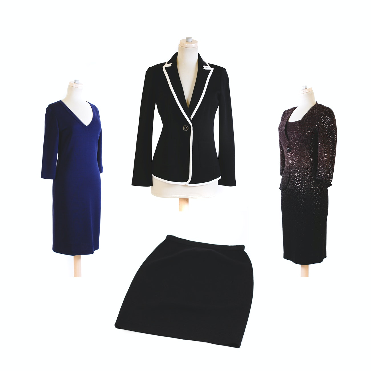 St. John and St. John Caviar Dresses, Jacket and Skirt