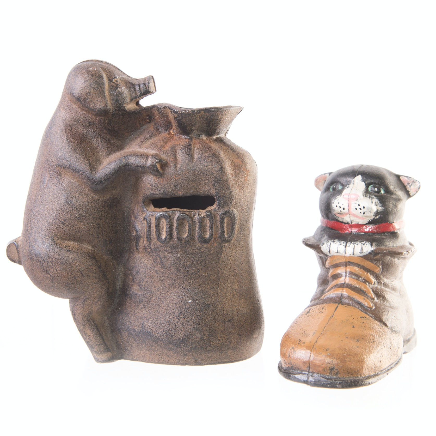 Cast Iron Figural Coin Banks