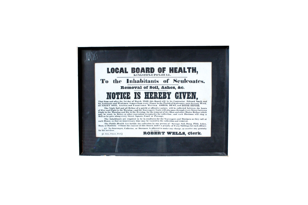 Antique Local Board of Health Warning