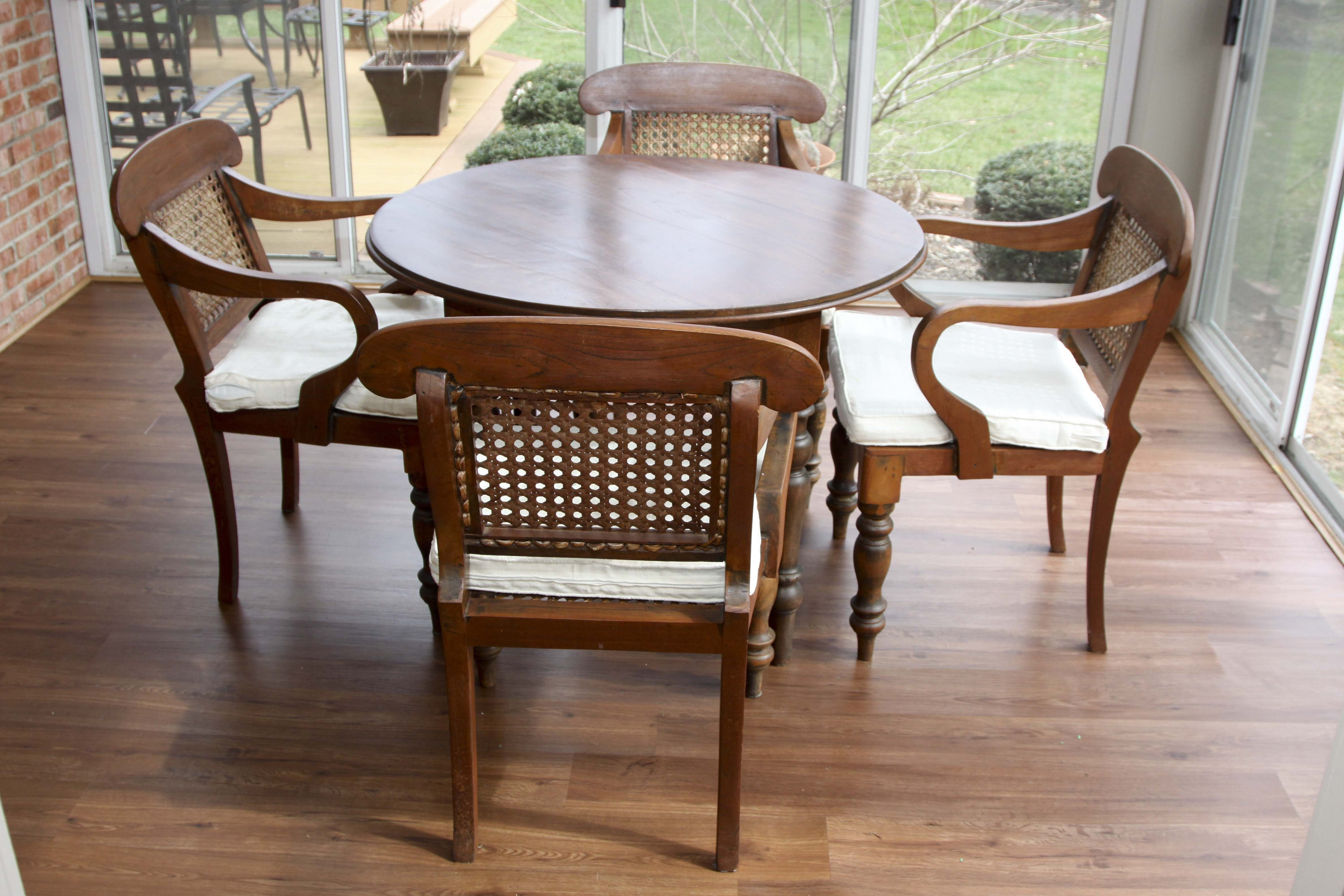 Anglo Indian Regency Style Table And Chair Set ...