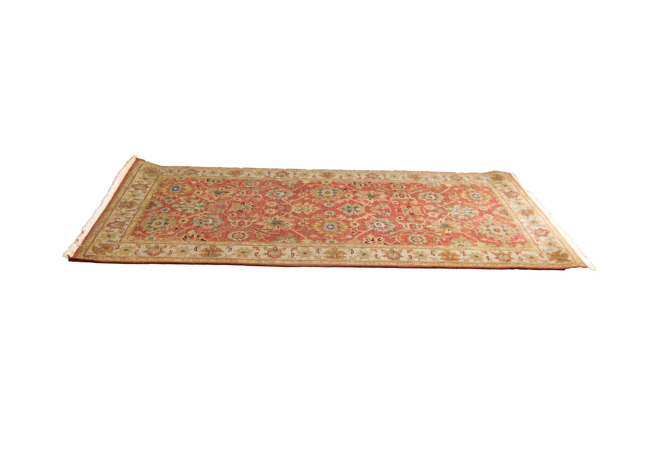 Handwoven Indo-Persian Soumak Wool Area Rug
