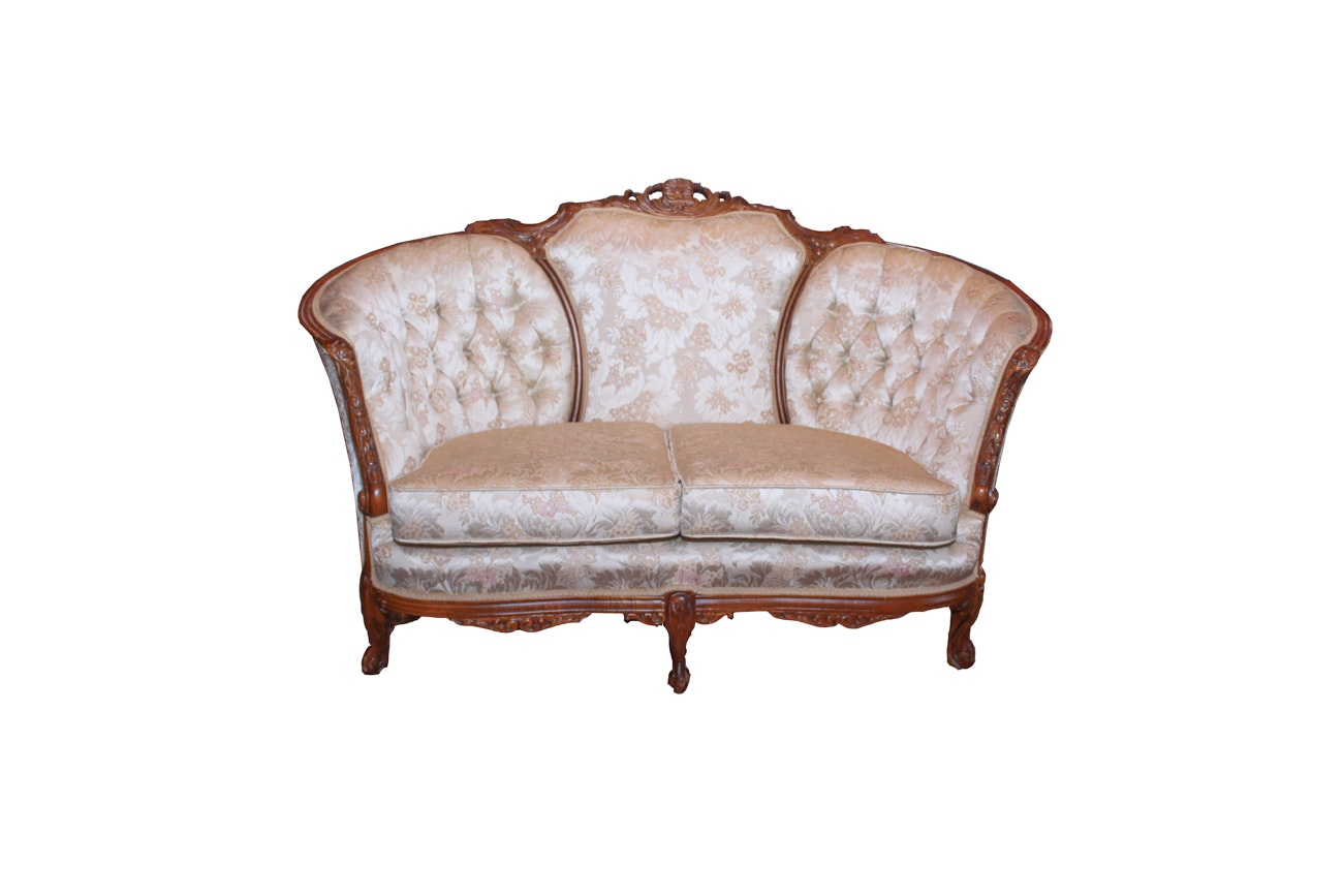 French Style Tufted Settee