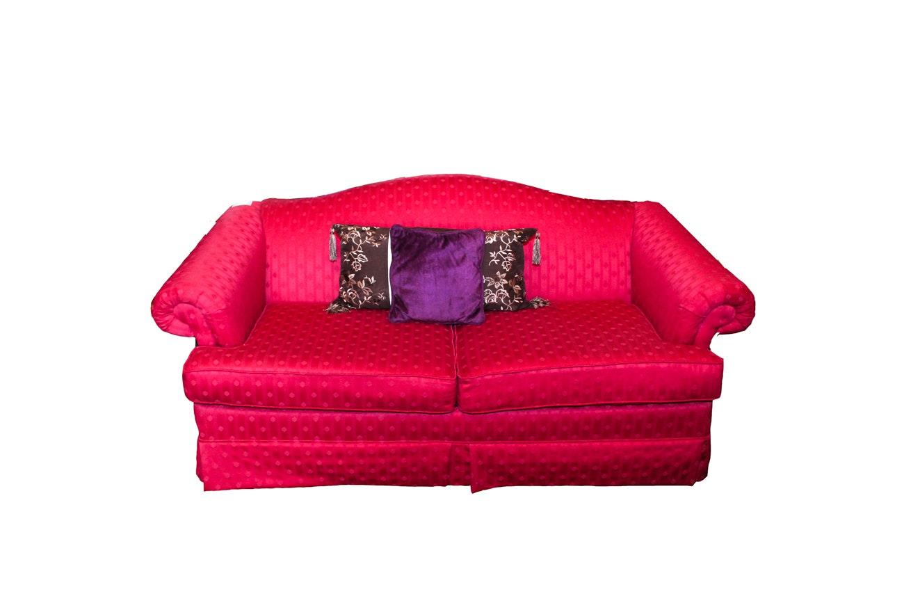Red Upholstered Loveseat