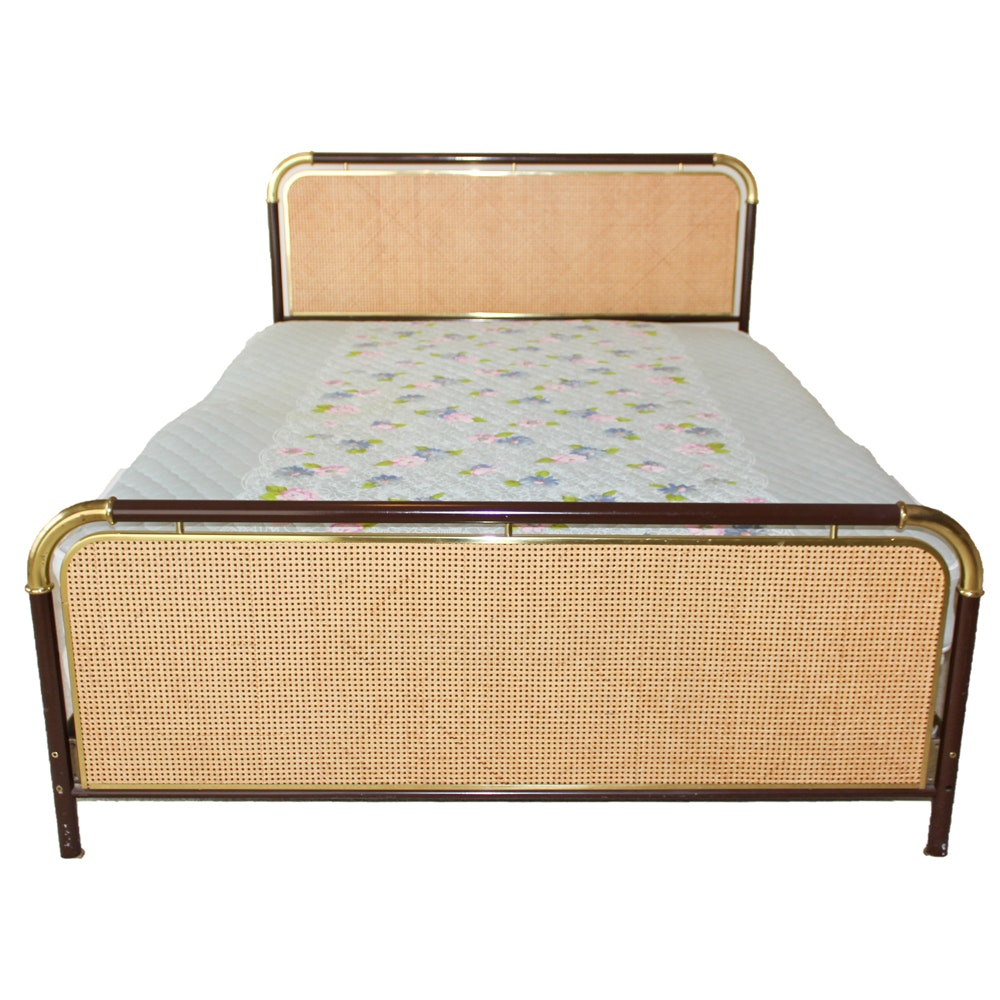 Queen Size Caned Bed Frame