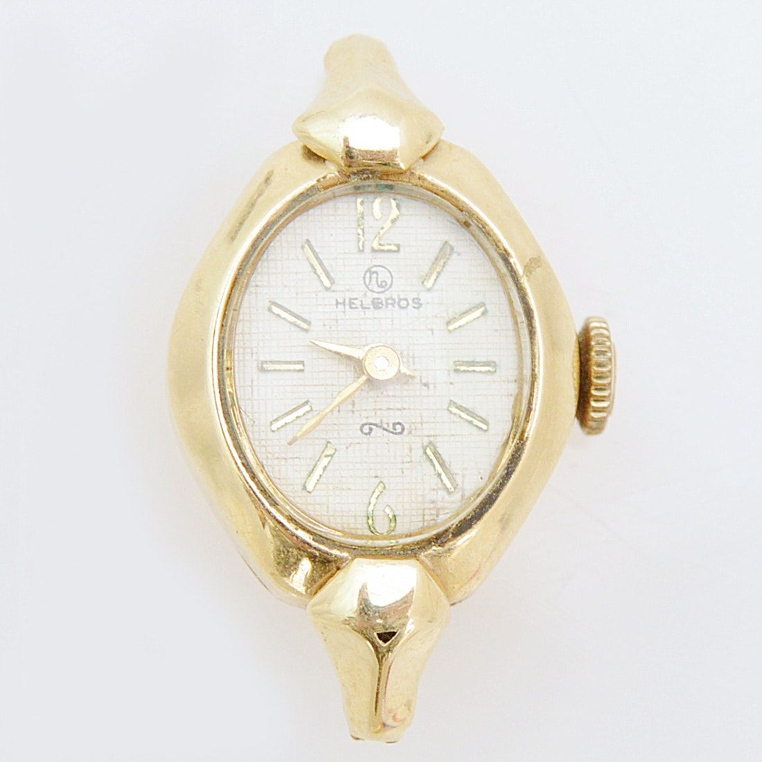 Vintage Helbros 14K Yellow Gold Wristwatch