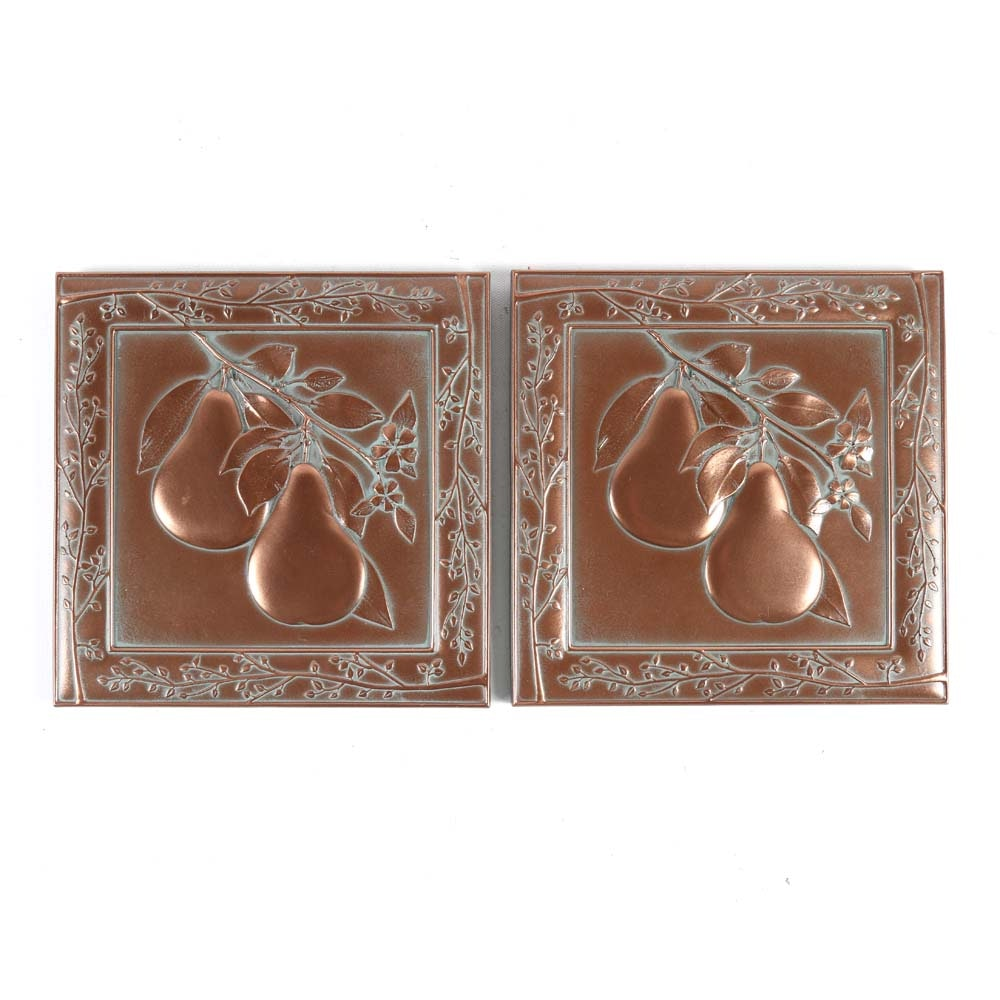 Roger Questel Copper Plated Tiles