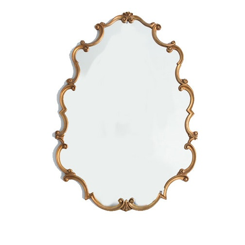 Decorative Gold Gilt Wood Framed Wall Mirror