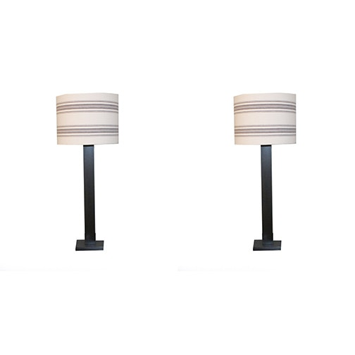 Contemporary Dual Socket Table Lamps