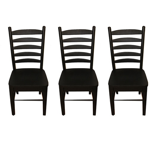 Set of Contemporary Ladder-Back Chairs