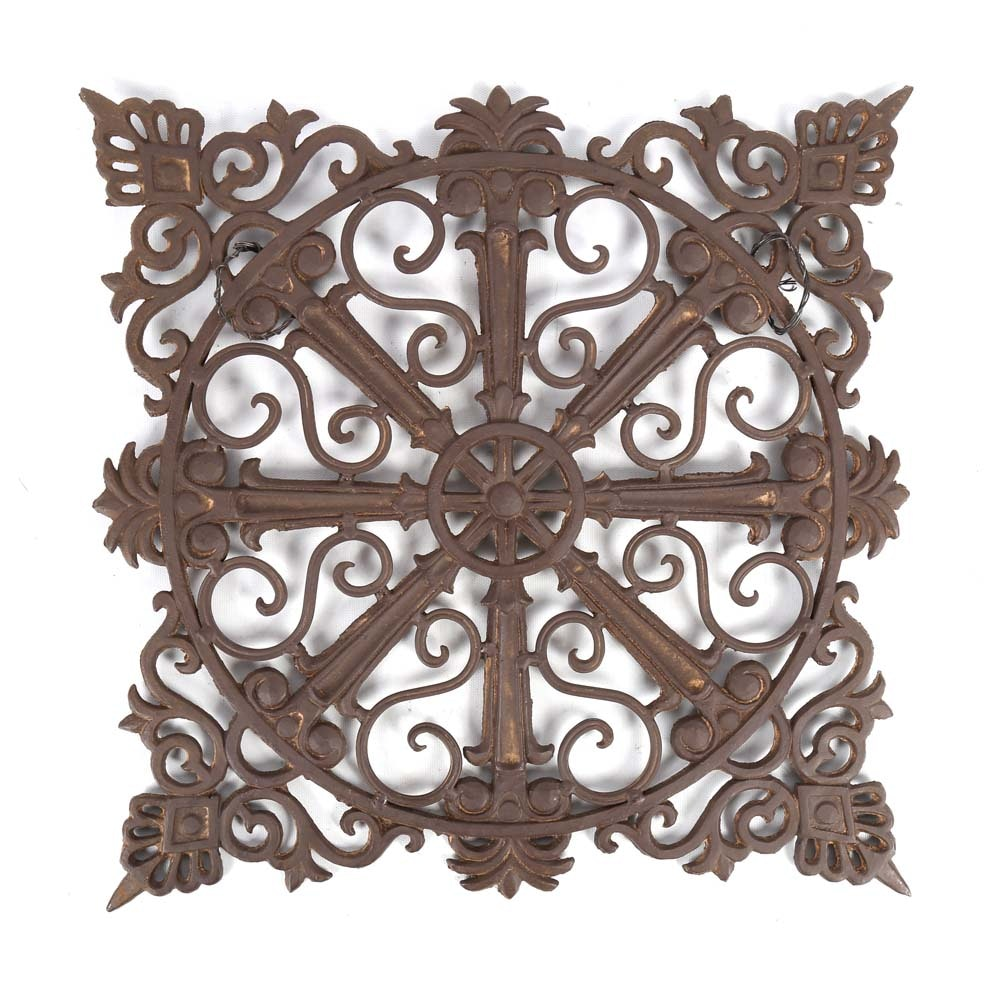 Cast Iron Garden Medallion