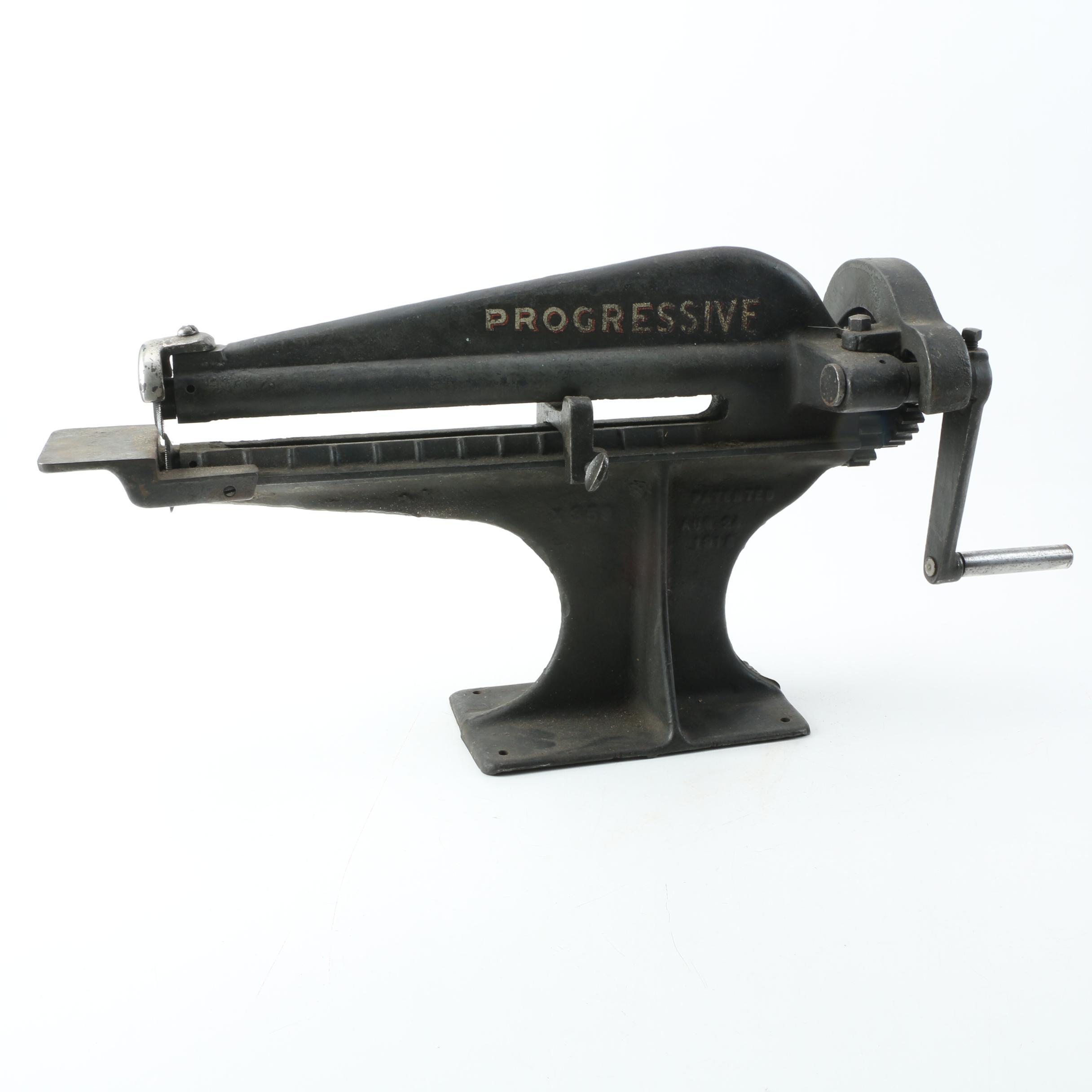 Vintage Progressive X359 Rotary Sheet Metal Cutter