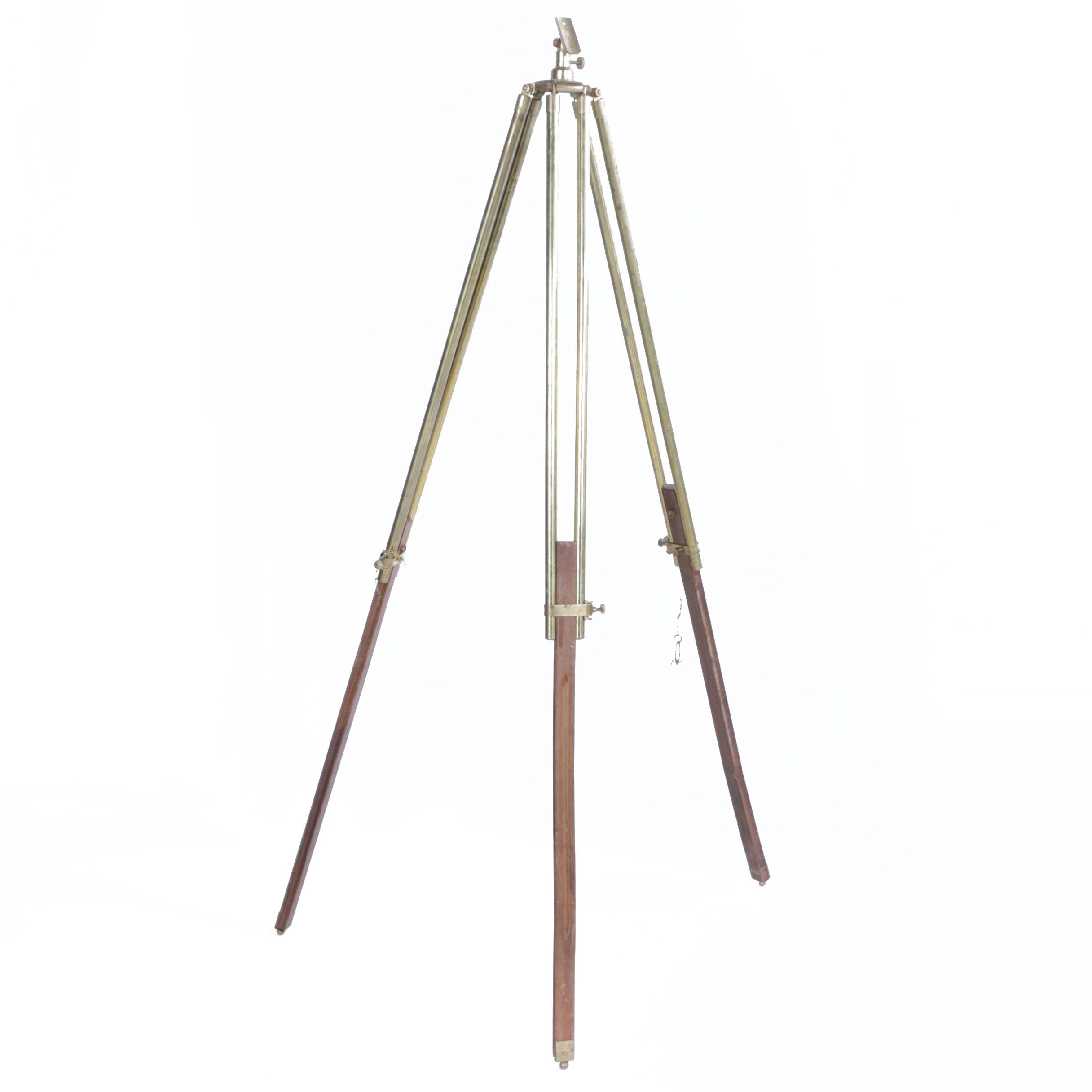 Vintage Brass and Wood Surveying Tripod