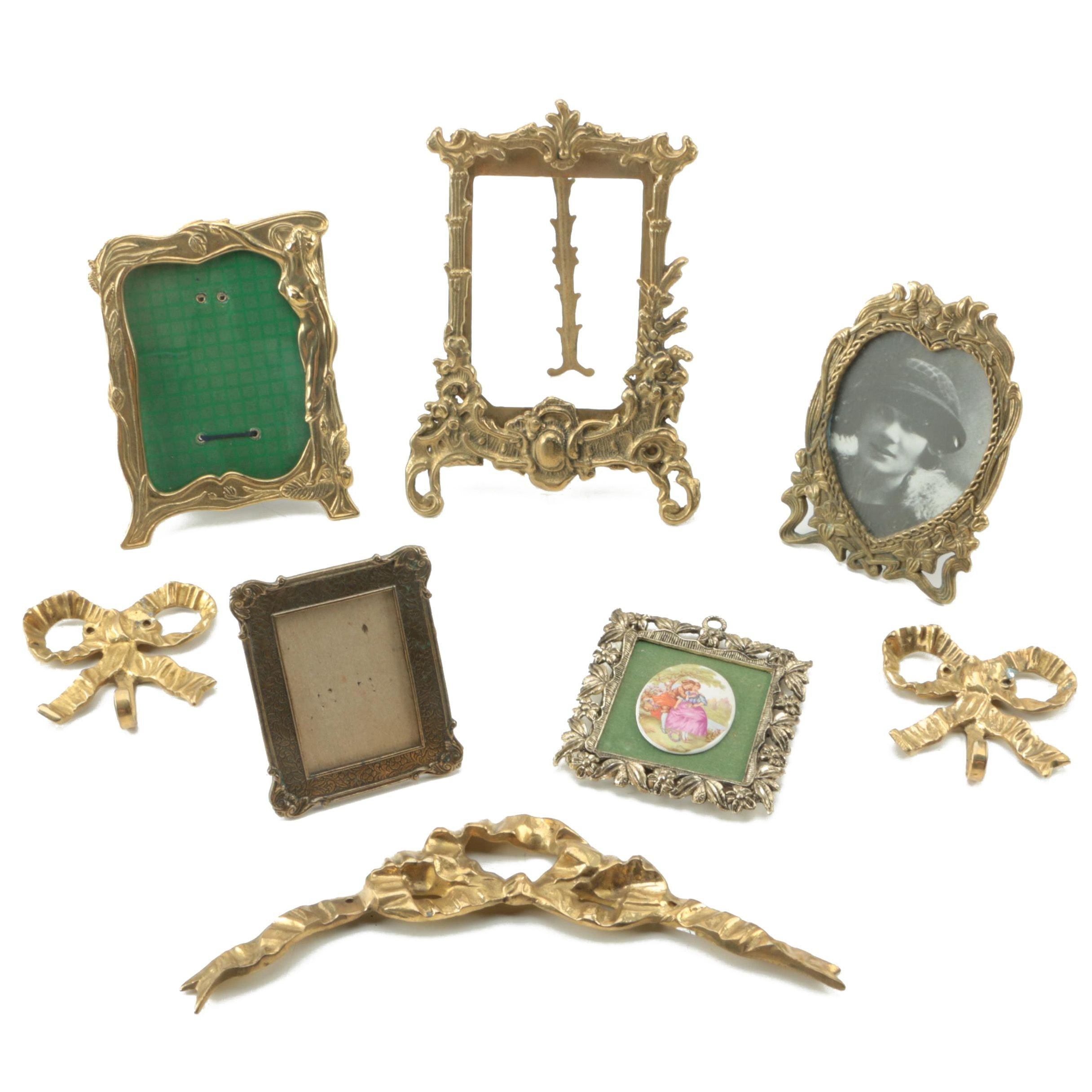 Vintage Brass Picture Frames and Decor Items