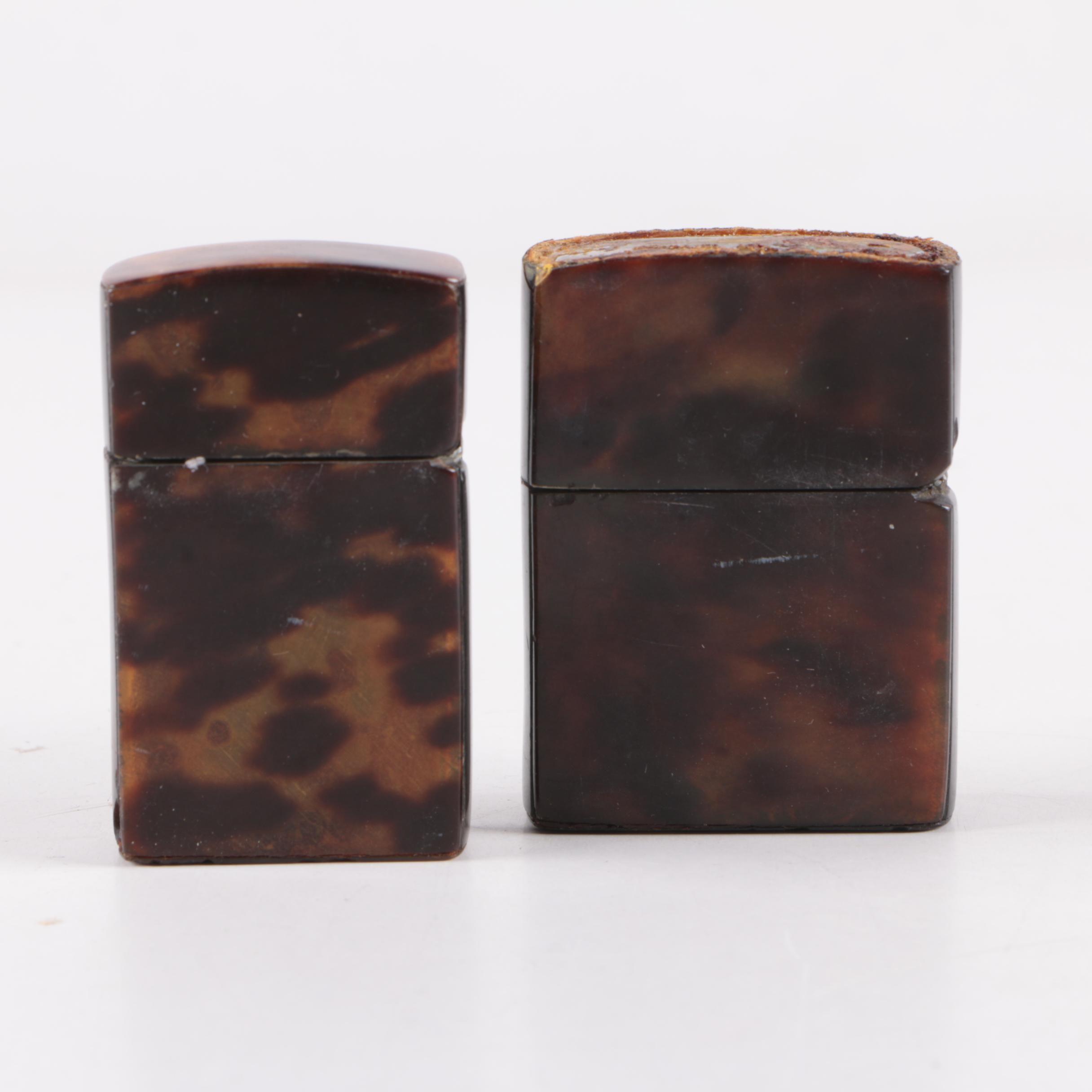 Vintage Spotted Pattern Butane Flip Lighters