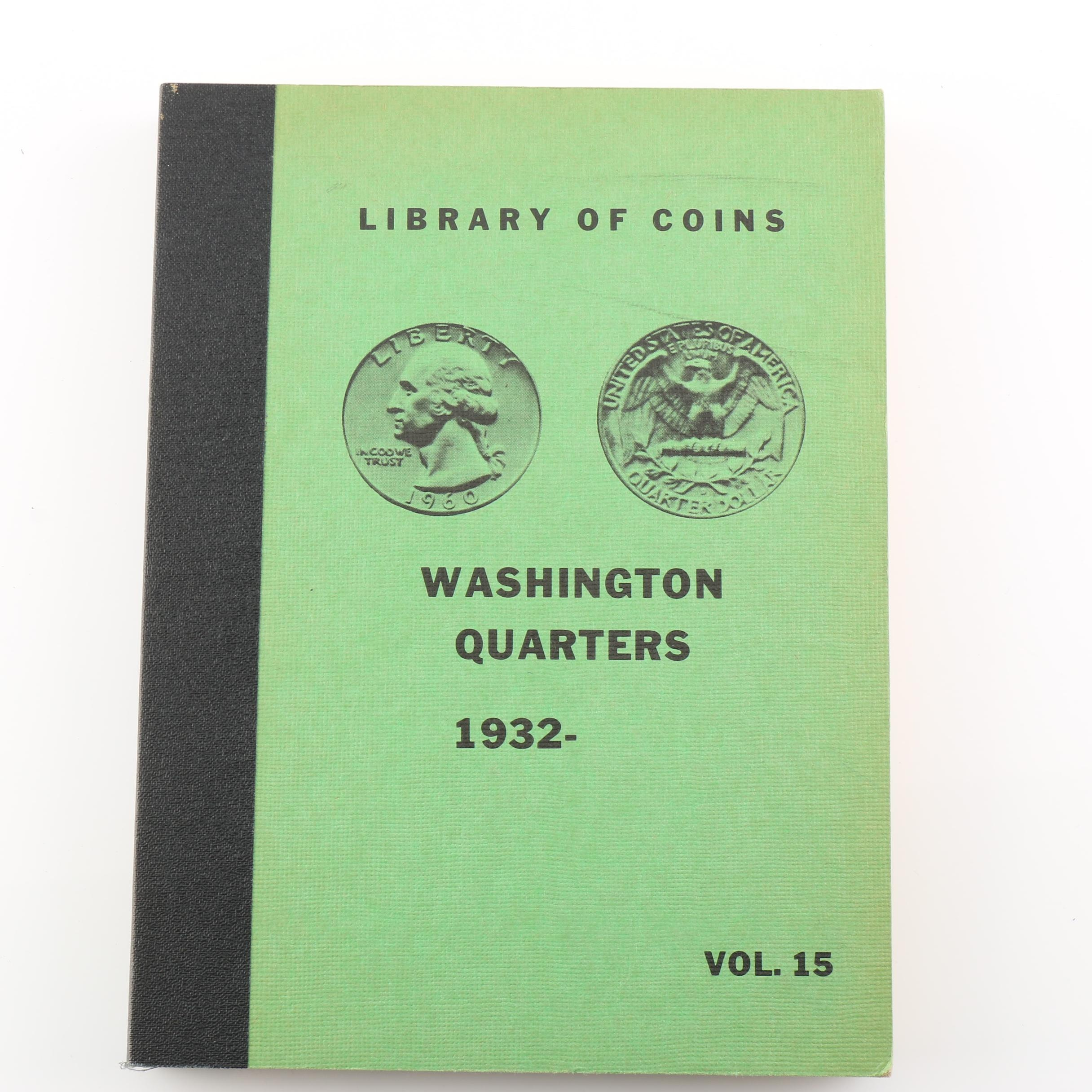 Group of 62 Washington Quarters in a Library of Coins Coin Folder