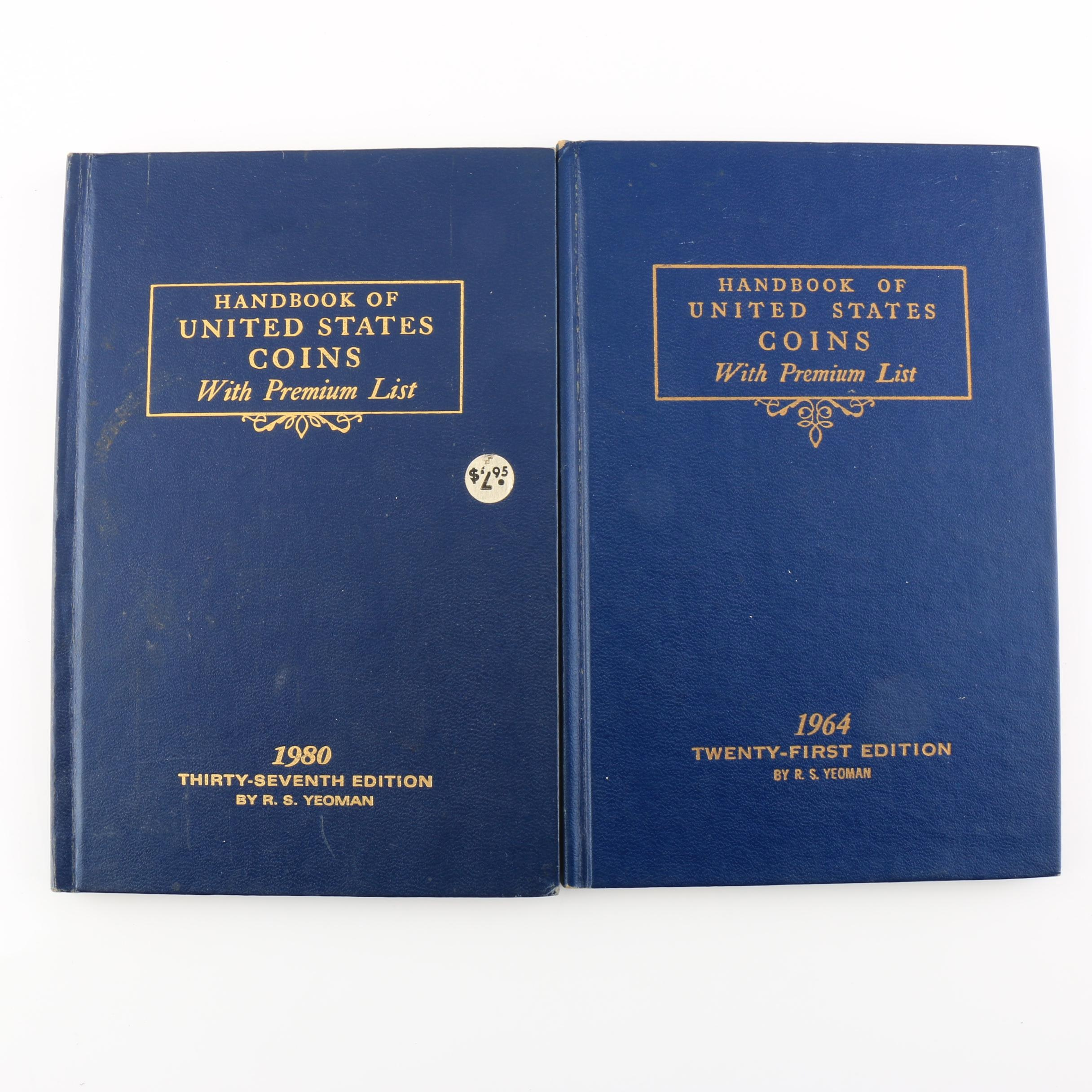 Group of Two Vintage Handbook of United States coins books: 1964 and 1980